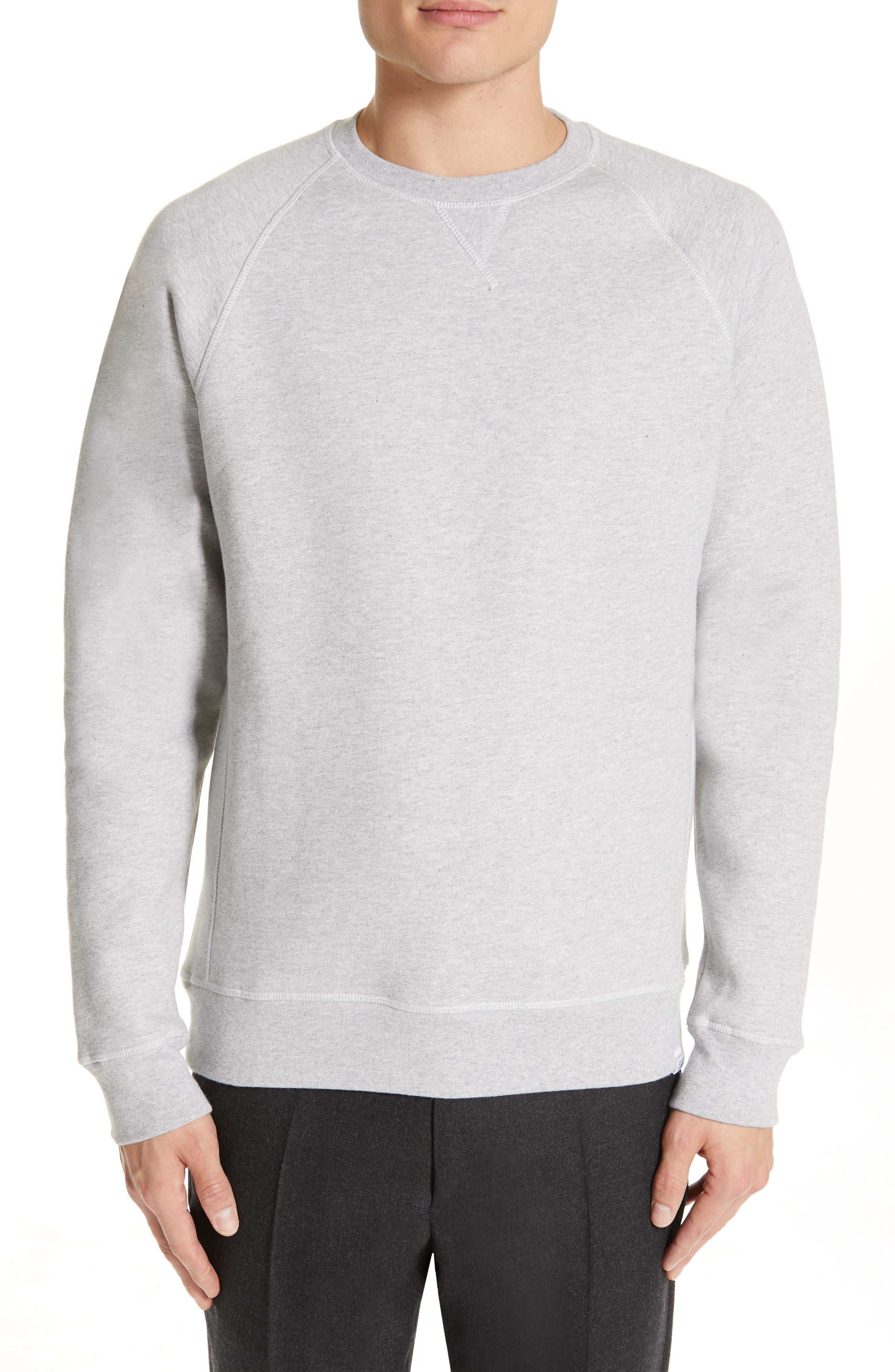 NORSE PROJECTS Ketel Raglan Sweatshirt, Main, color, LIGHT GREY MELANGE