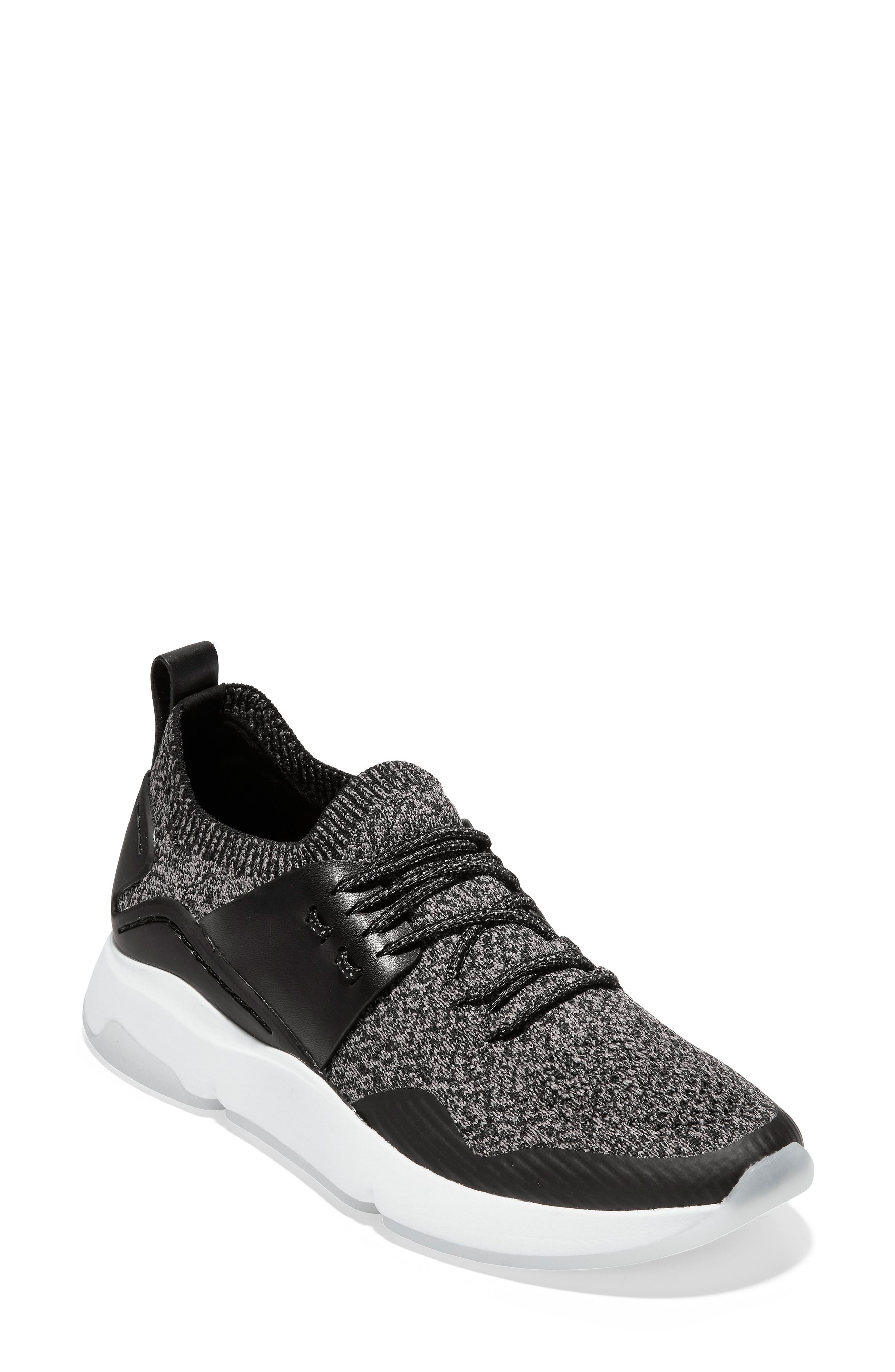 COLE HAAN ZeroGrand All Day Trainer Sneaker, Main, color, BLACK LEATHER
