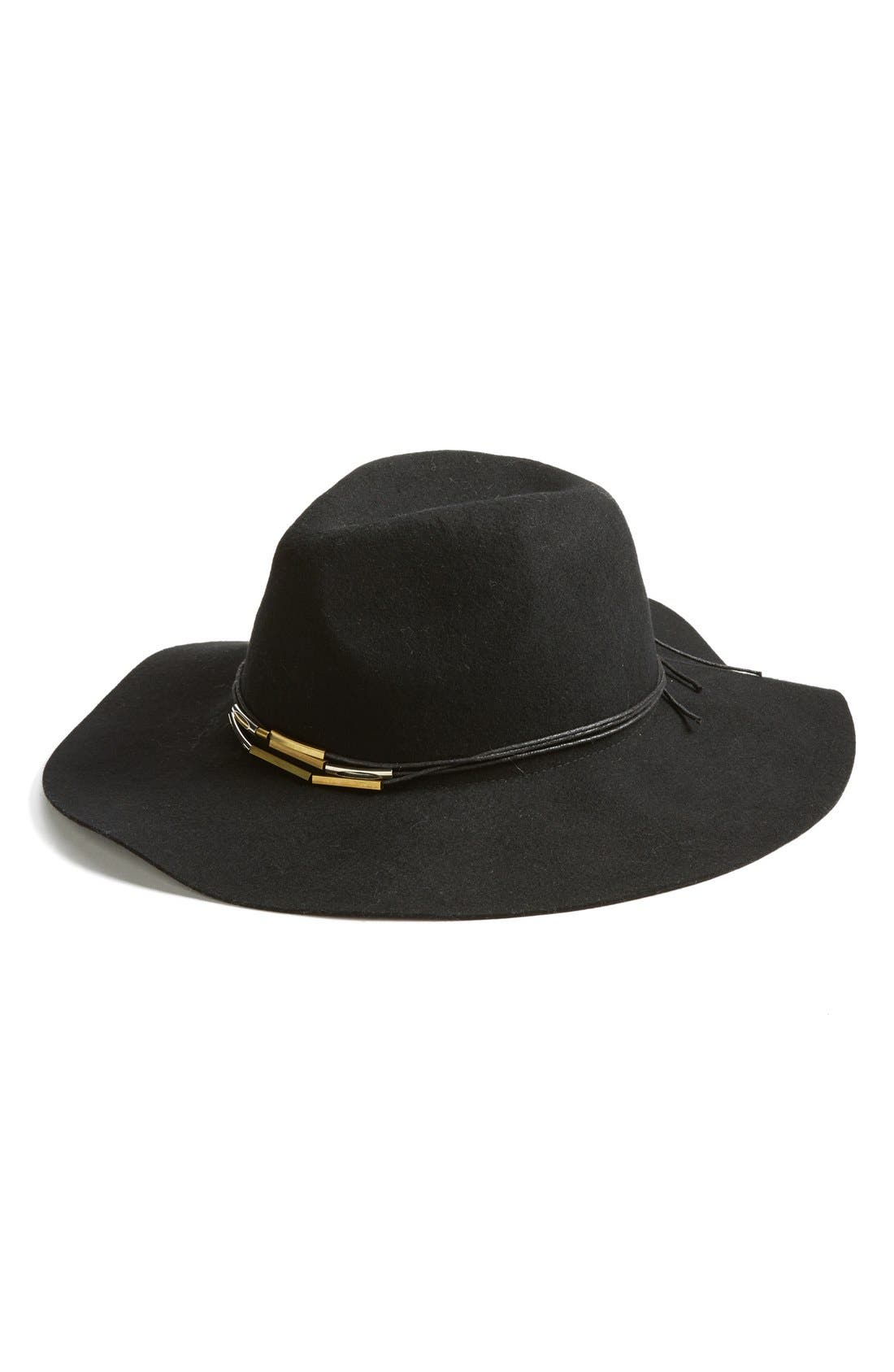 BP., Metal Bead Wool Felt Panama Hat, Main thumbnail 1, color, 001