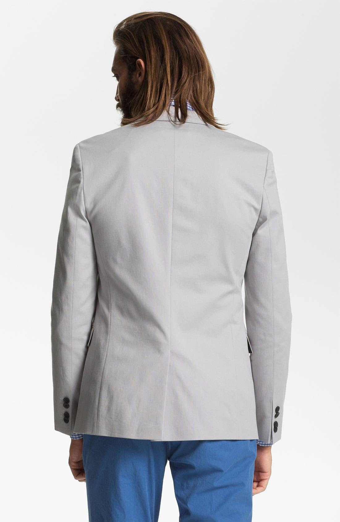 ZZDNUHUGO BOSS, HUGO 'Aeris' Trim Fit Cotton Blend Blazer, Alternate thumbnail 5, color, 030