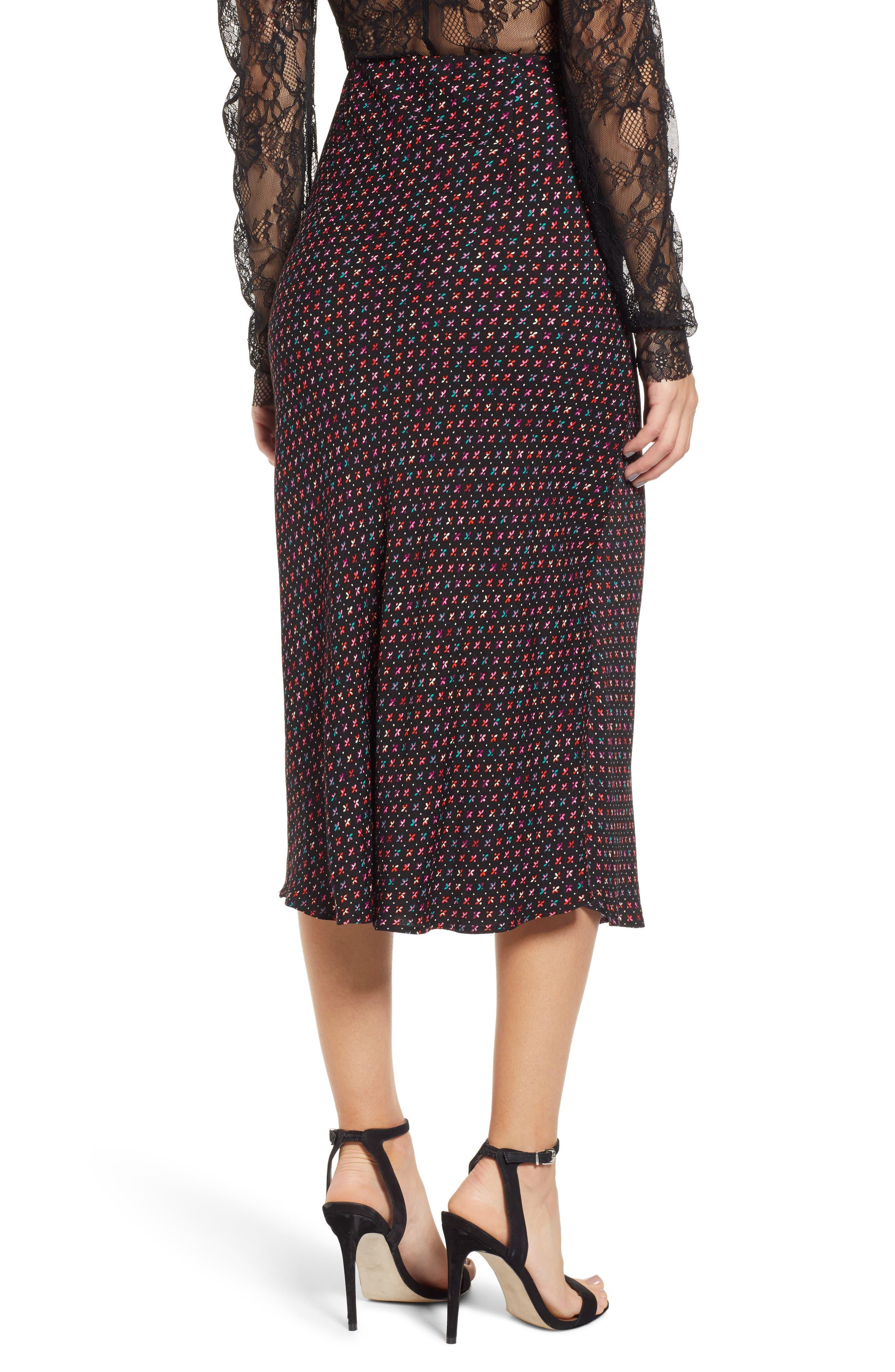 AFRM, Brynne Print Midi Skirt, Alternate thumbnail 2, color, 001