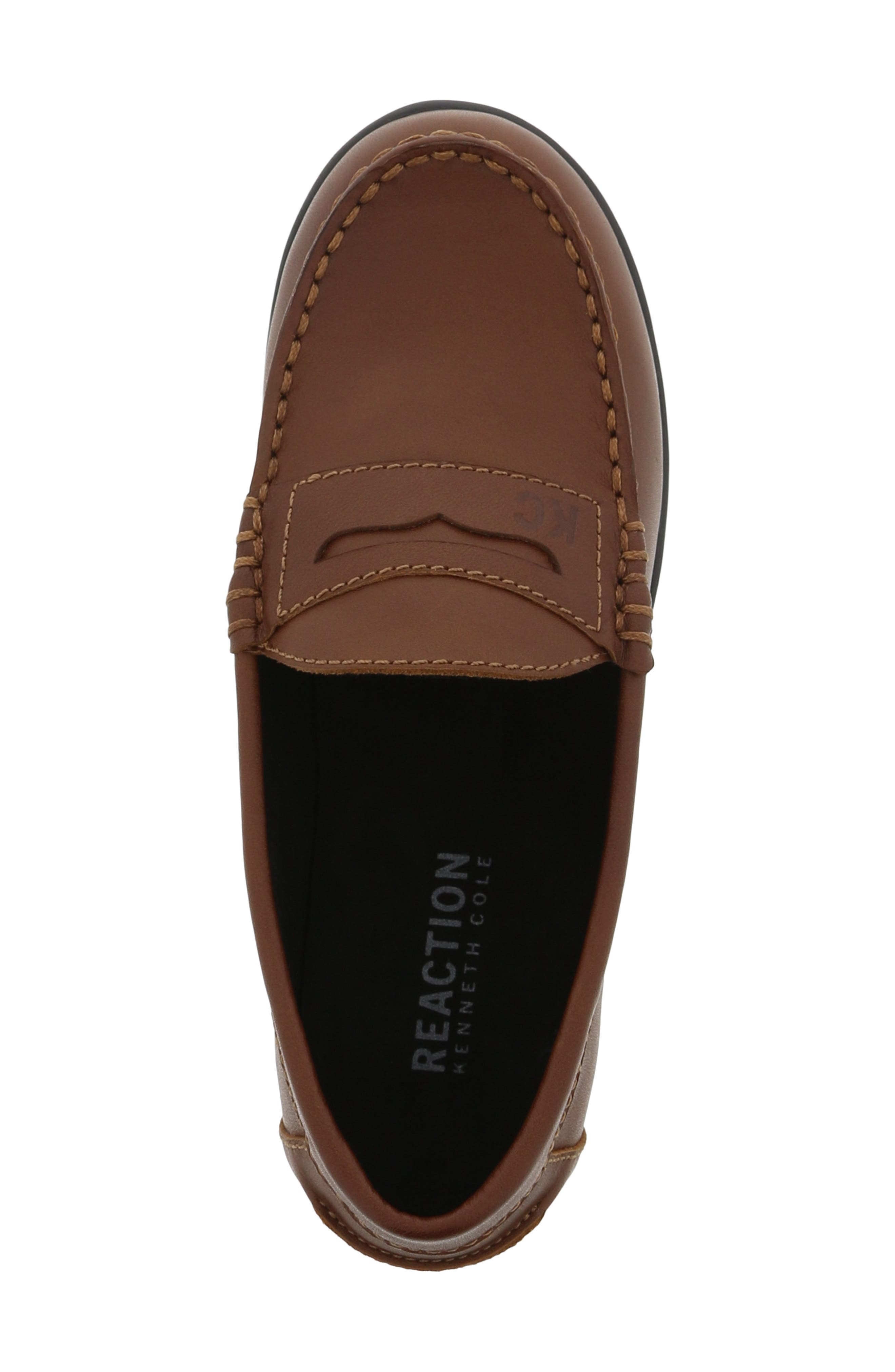 REACTION KENNETH COLE, Helio Gear Loafer, Alternate thumbnail 5, color, COGNAC