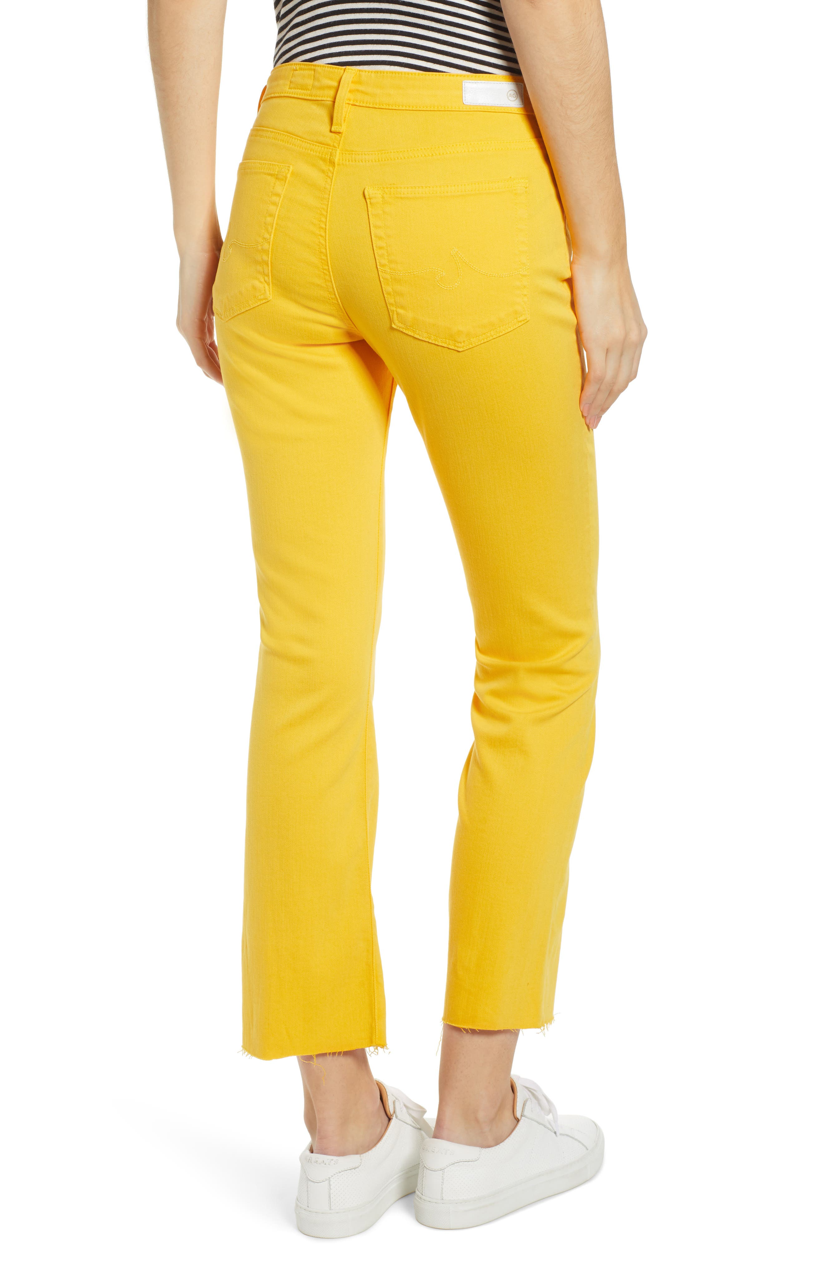 AG, Jodi High Waist Crop Jeans, Alternate thumbnail 2, color, GOLDEN OCHRE