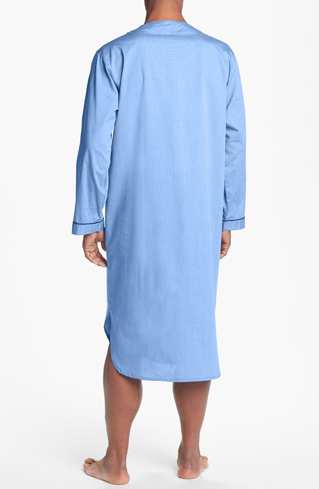 MAJESTIC INTERNATIONAL, Cotton Nightshirt, Alternate thumbnail 2, color, BLUE