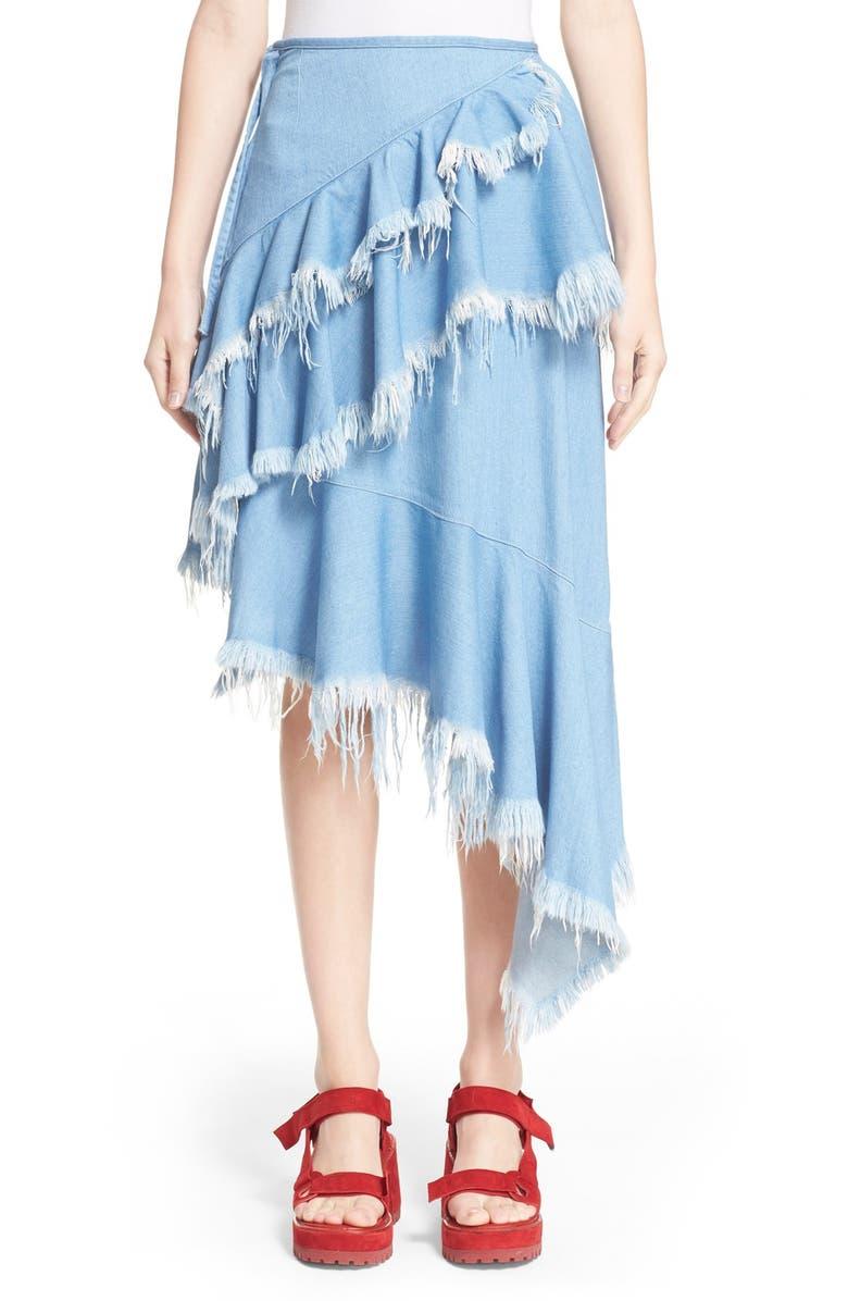 cfaf7938a MARQUES'ALMEIDA Marques'Almeida High Waist Tiered Denim Skirt, Main, color,