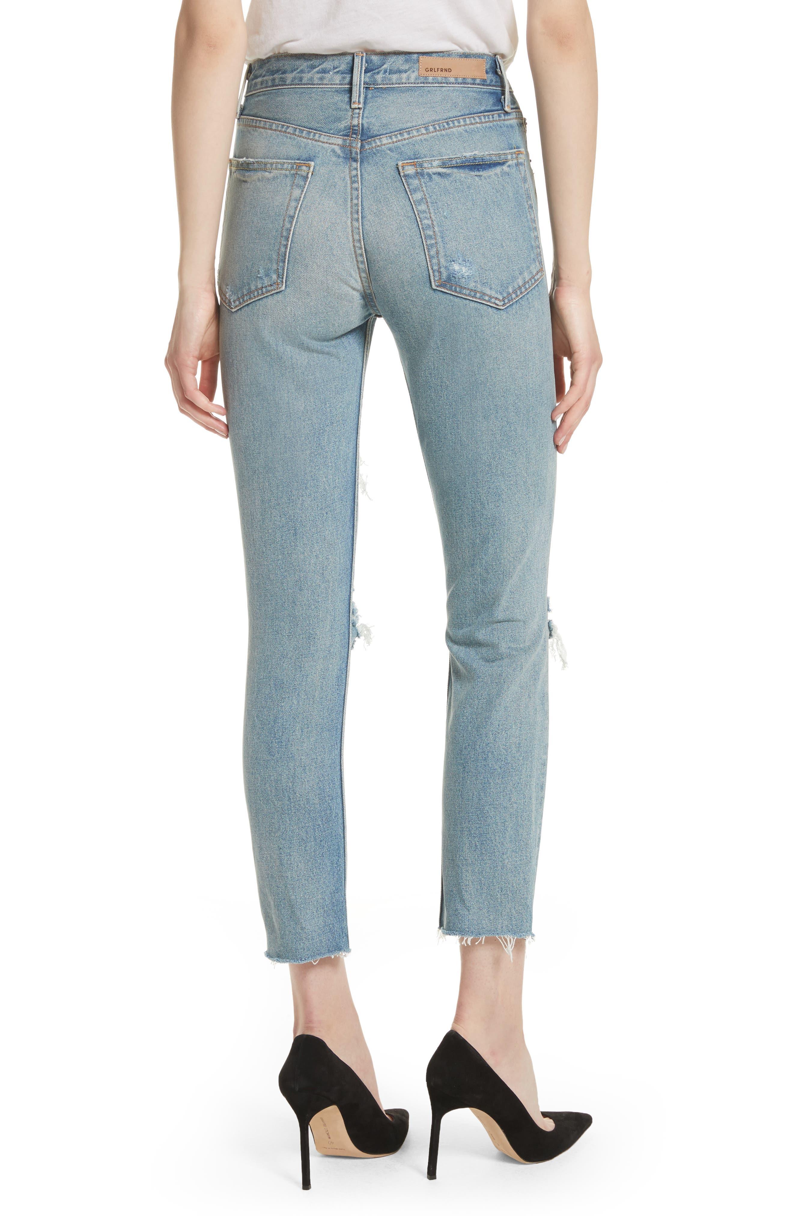 GRLFRND, Karolina Rigid High Waist Skinny Jeans, Alternate thumbnail 2, color, A LITTLE MORE LOVE