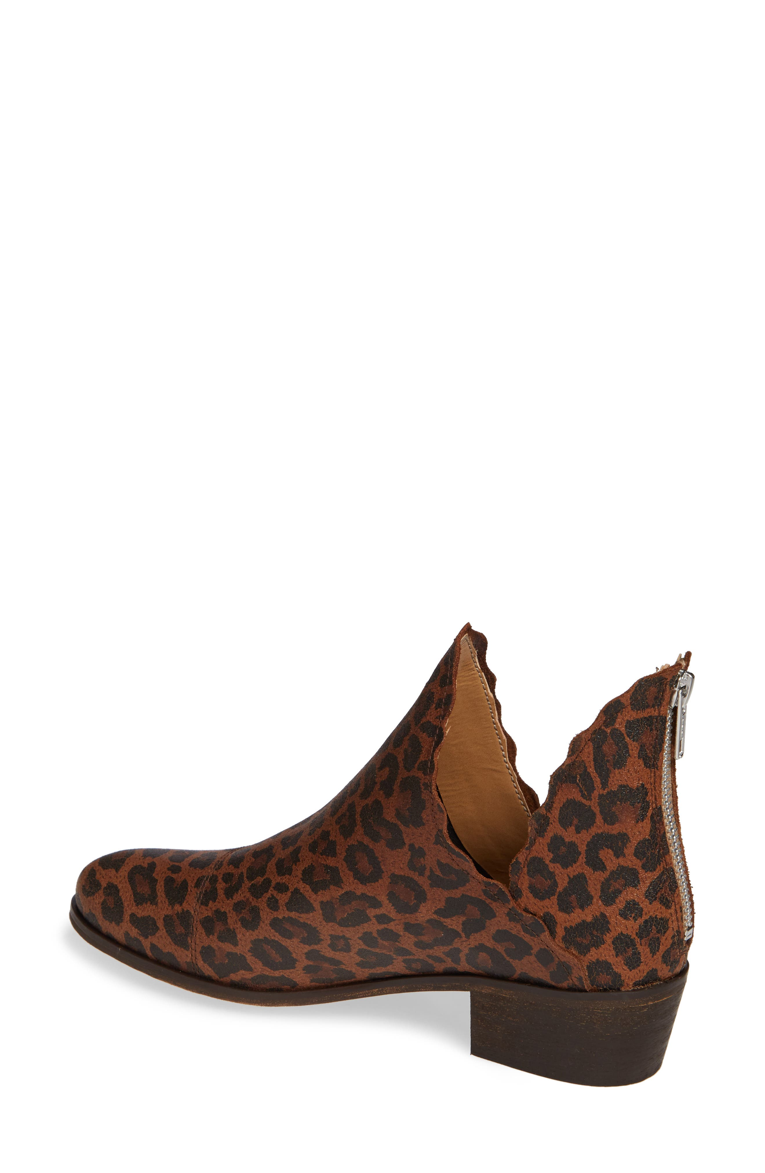 KLUB NICO, Bae Scalloped Bootie, Alternate thumbnail 2, color, LEOPARD SUEDE