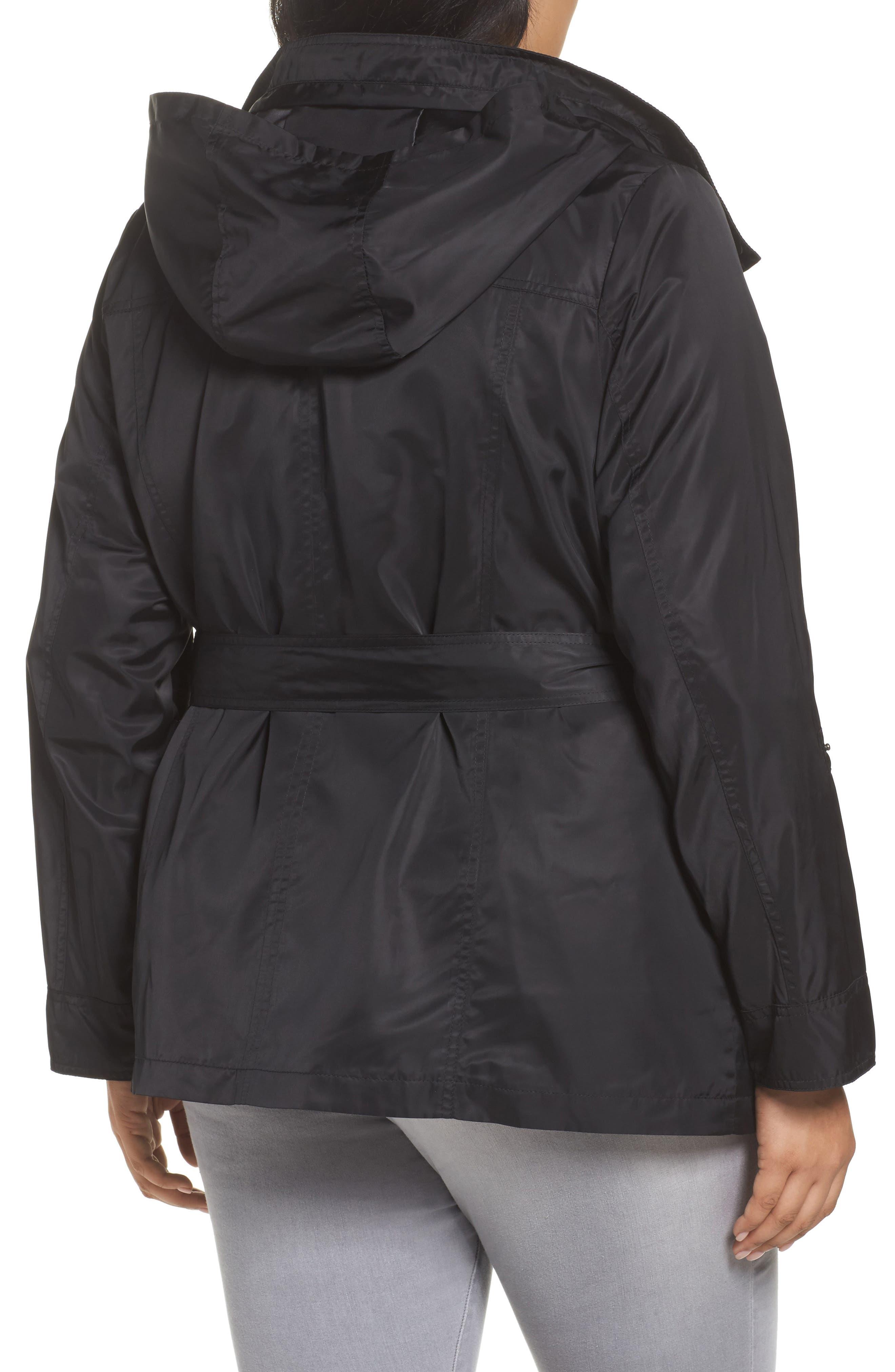 HALOGEN<SUP>®</SUP>, Belted Lightweight Jacket, Alternate thumbnail 2, color, BLACK