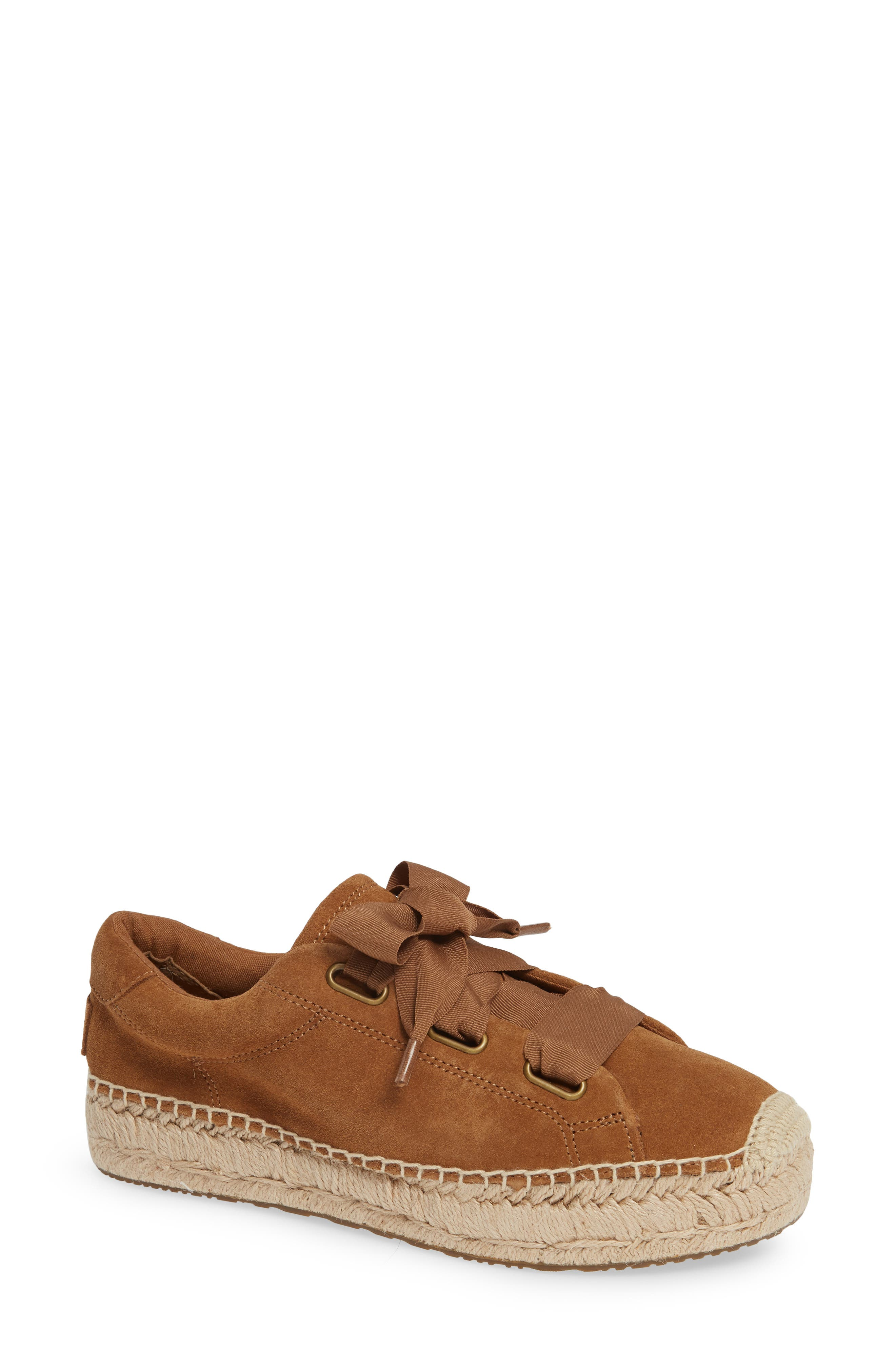 UGG<SUP>®</SUP>, Brianna Sneaker, Main thumbnail 1, color, CHESTNUT SUEDE