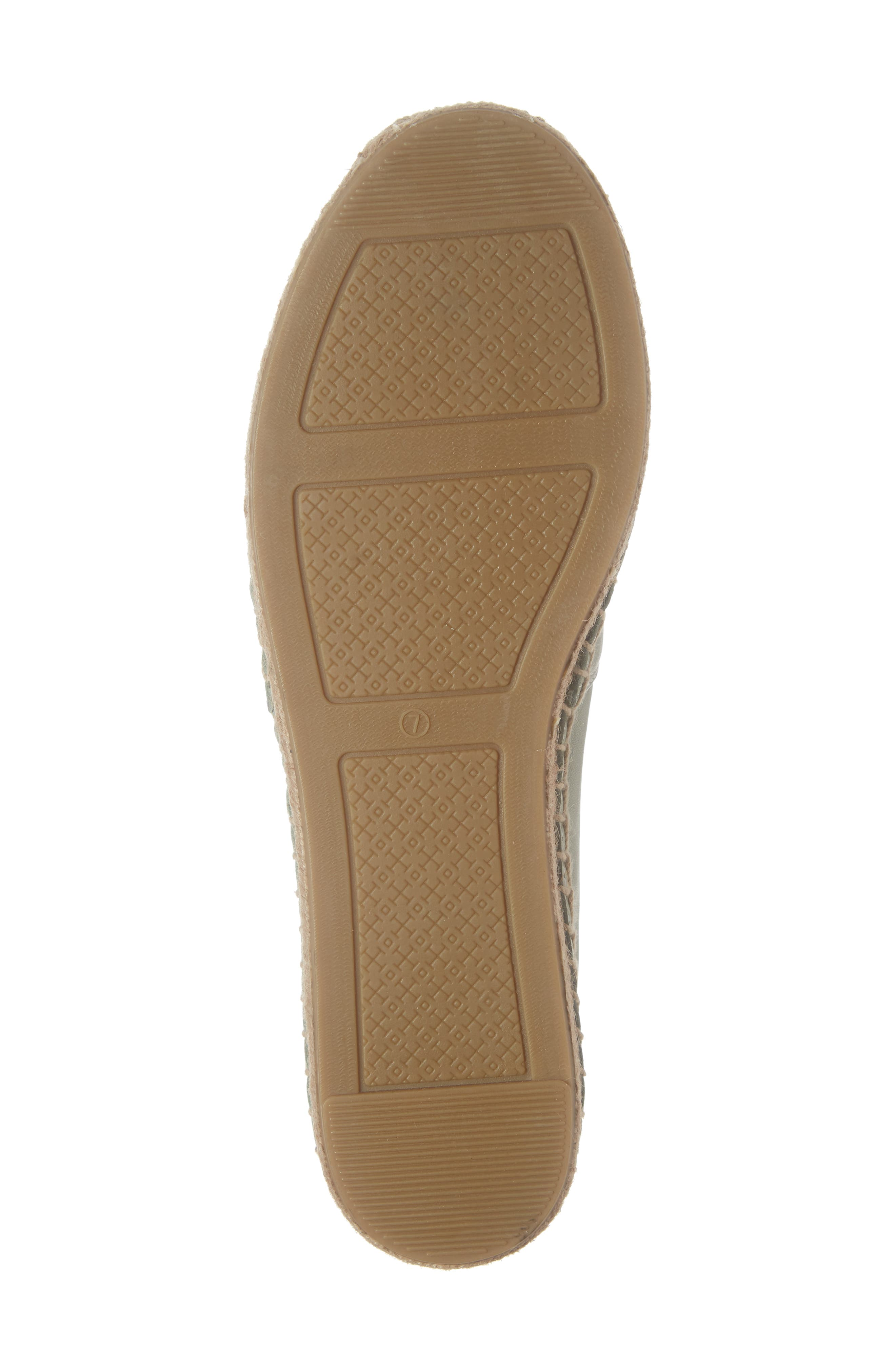 TORY BURCH, Ines Espadrille, Alternate thumbnail 6, color, GARDEN SAGE / SILVER