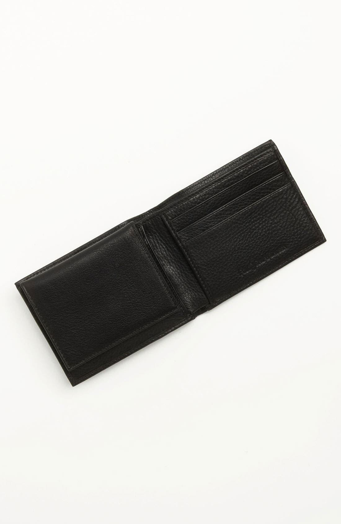 POLO RALPH LAUREN, Leather Passcase Wallet, Alternate thumbnail 4, color, BLACK
