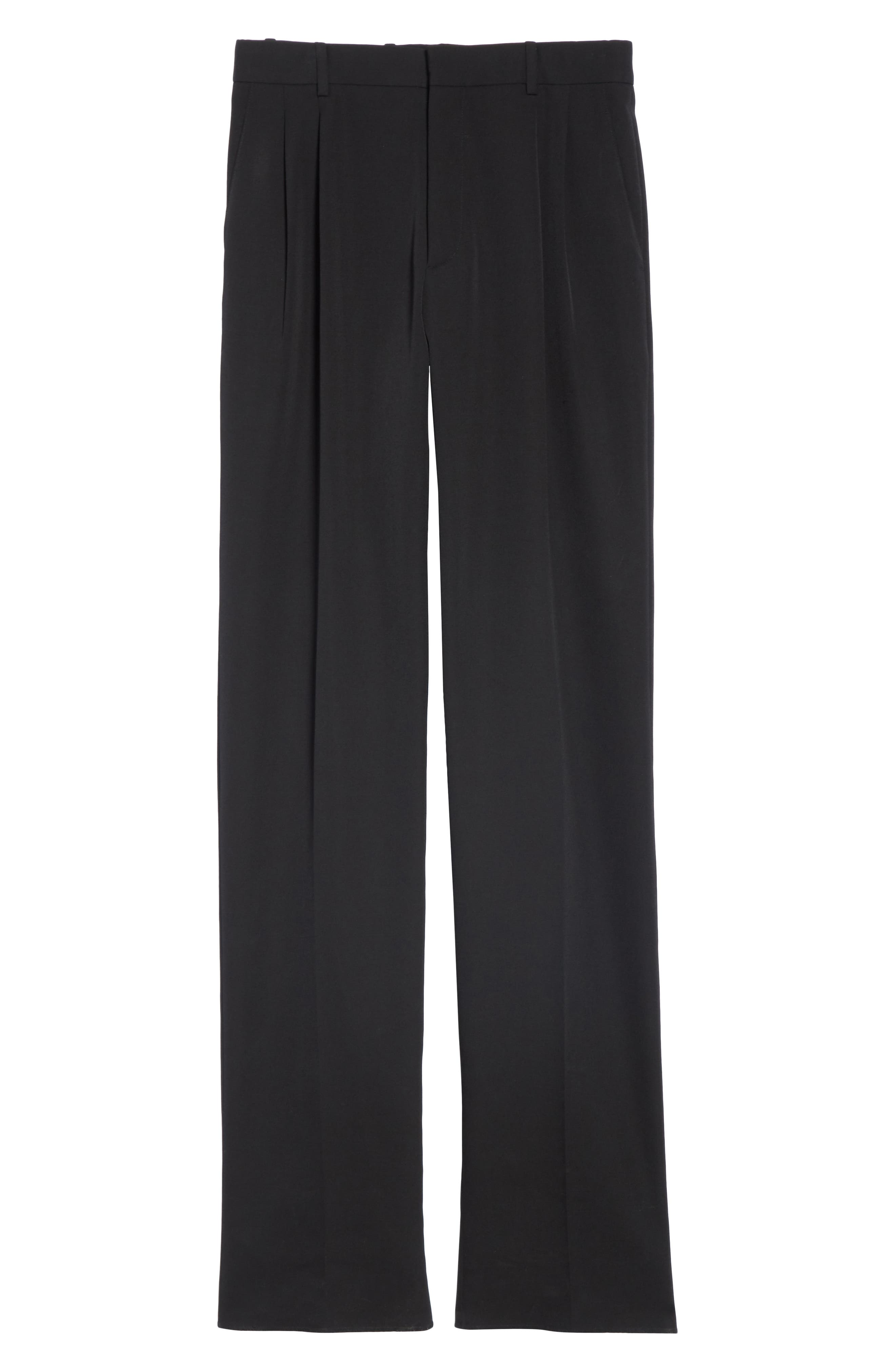 CALVIN KLEIN 205W39NYC, Wool Gabardine Pants, Alternate thumbnail 6, color, BLACK