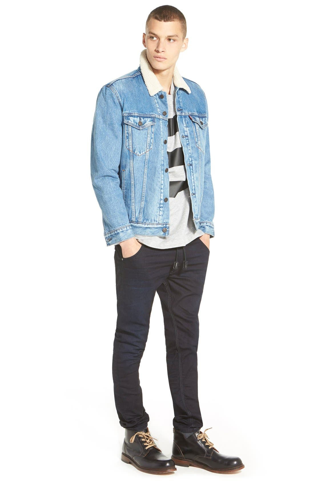 DIESEL<SUP>®</SUP>, Krooley Jogg Slouchy Skinny Fit Jeans, Alternate thumbnail 2, color, 0829P