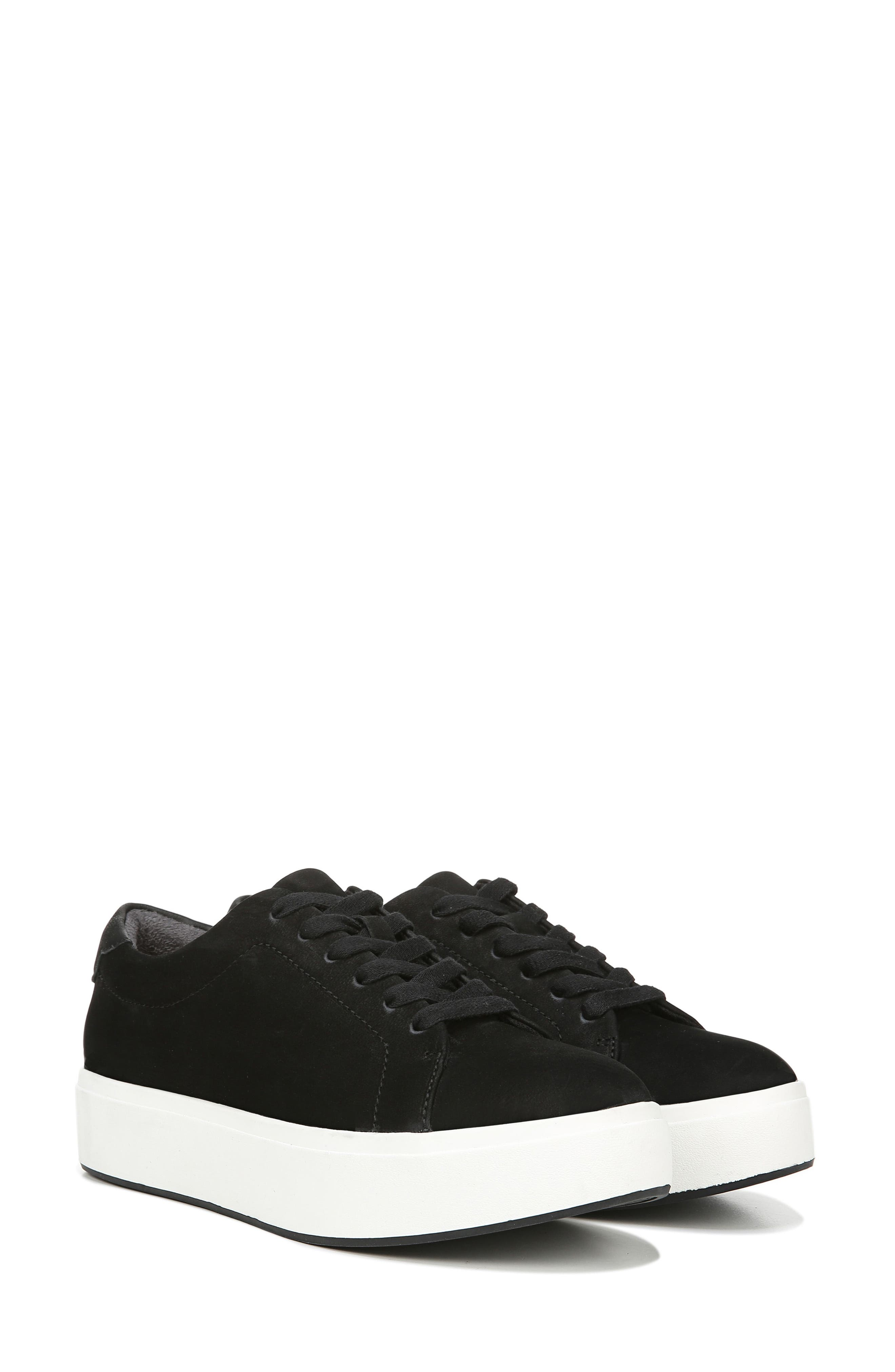 DR. SCHOLL'S, Abbot Luxe Platform Sneaker, Alternate thumbnail 9, color, BLACK SUEDE