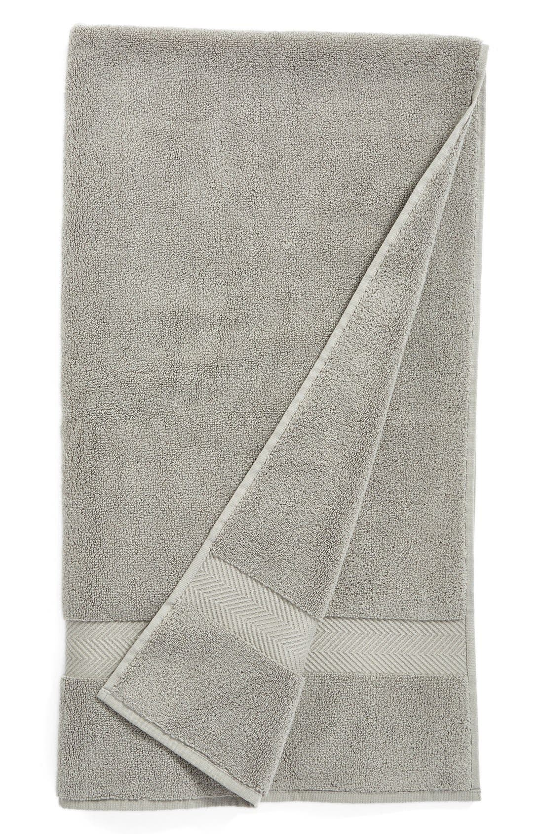 NORDSTROM AT HOME, Hydrocotton Bath Towel, Main thumbnail 1, color, GRAPHITE