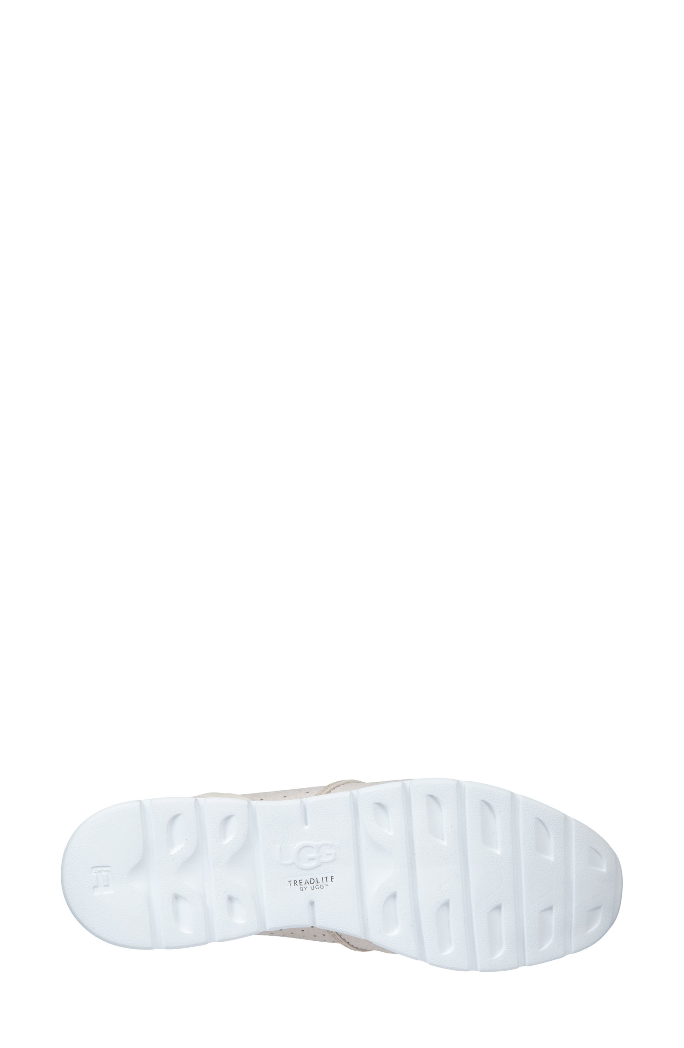UGG<SUP>®</SUP>, Tye Sneaker, Alternate thumbnail 5, color, COCONUT MILK LEATHER