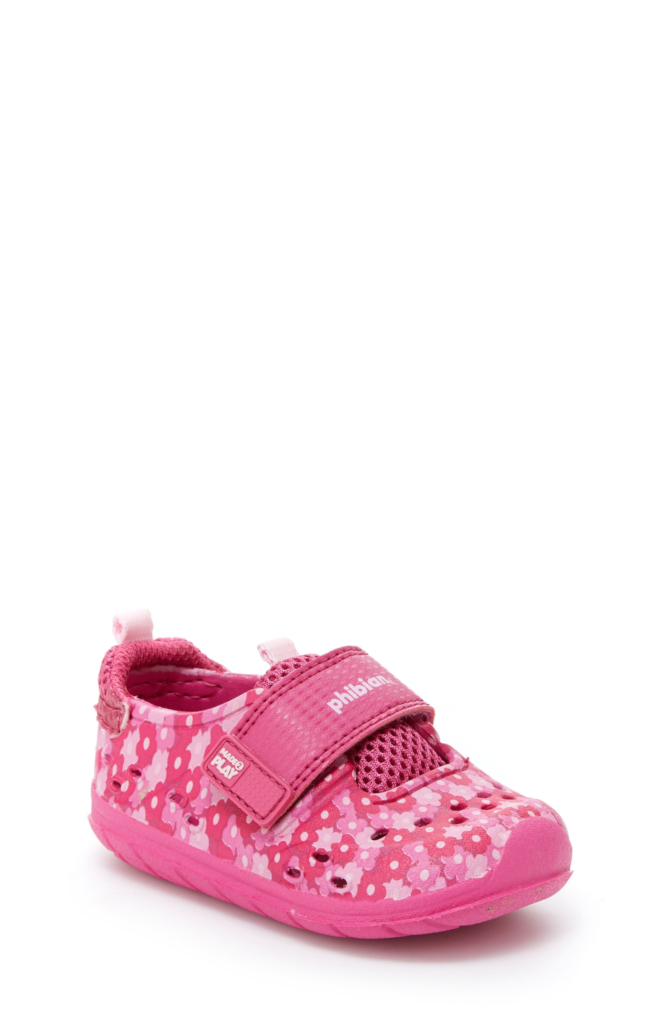STRIDE RITE Made2Play<sup>®</sup> Phibian Sneaker, Main, color, PINK FLORAL EVA