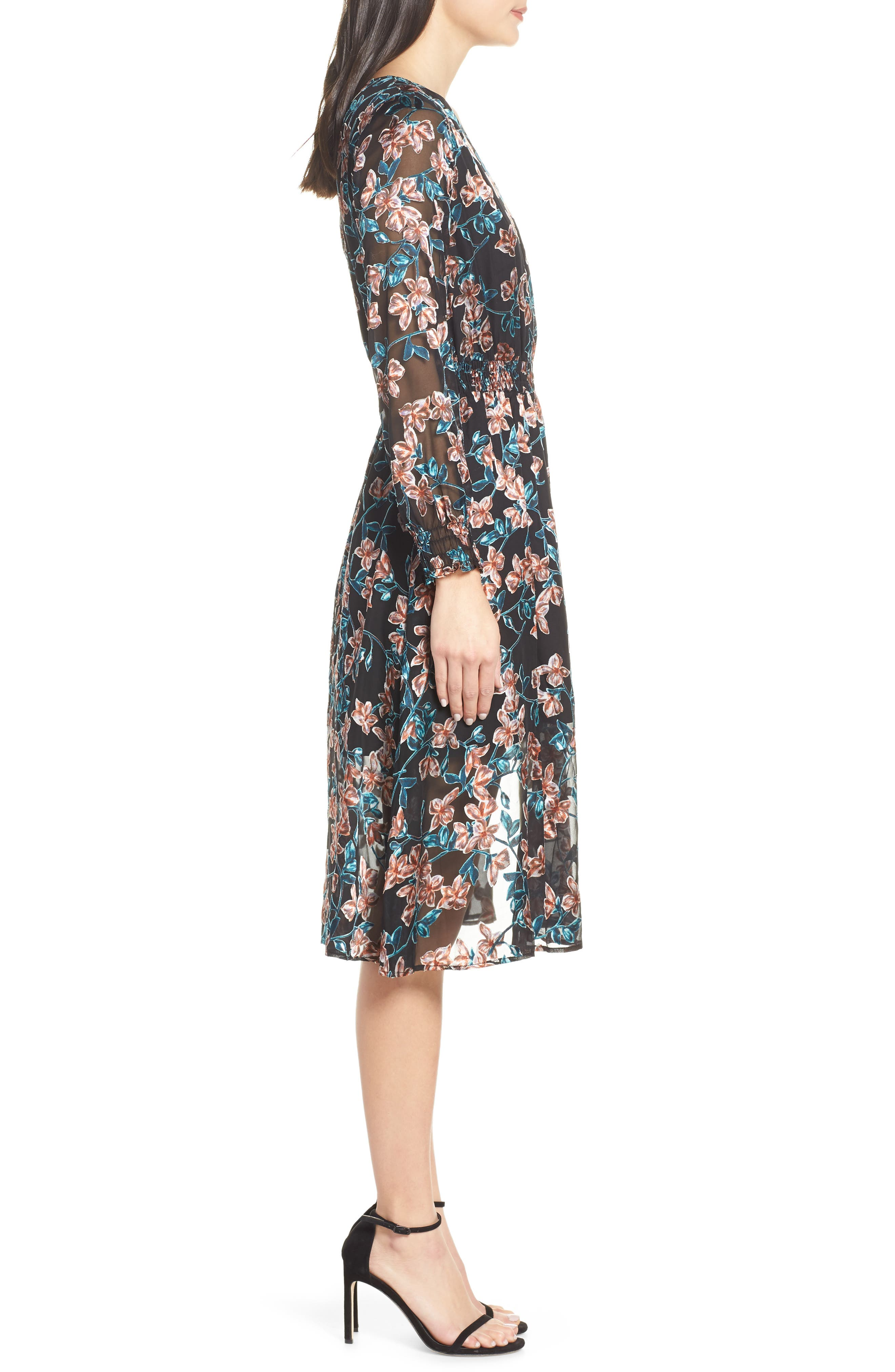 ALI & JAY, Treat Me Like a Lady Floral Dress, Alternate thumbnail 4, color, 001