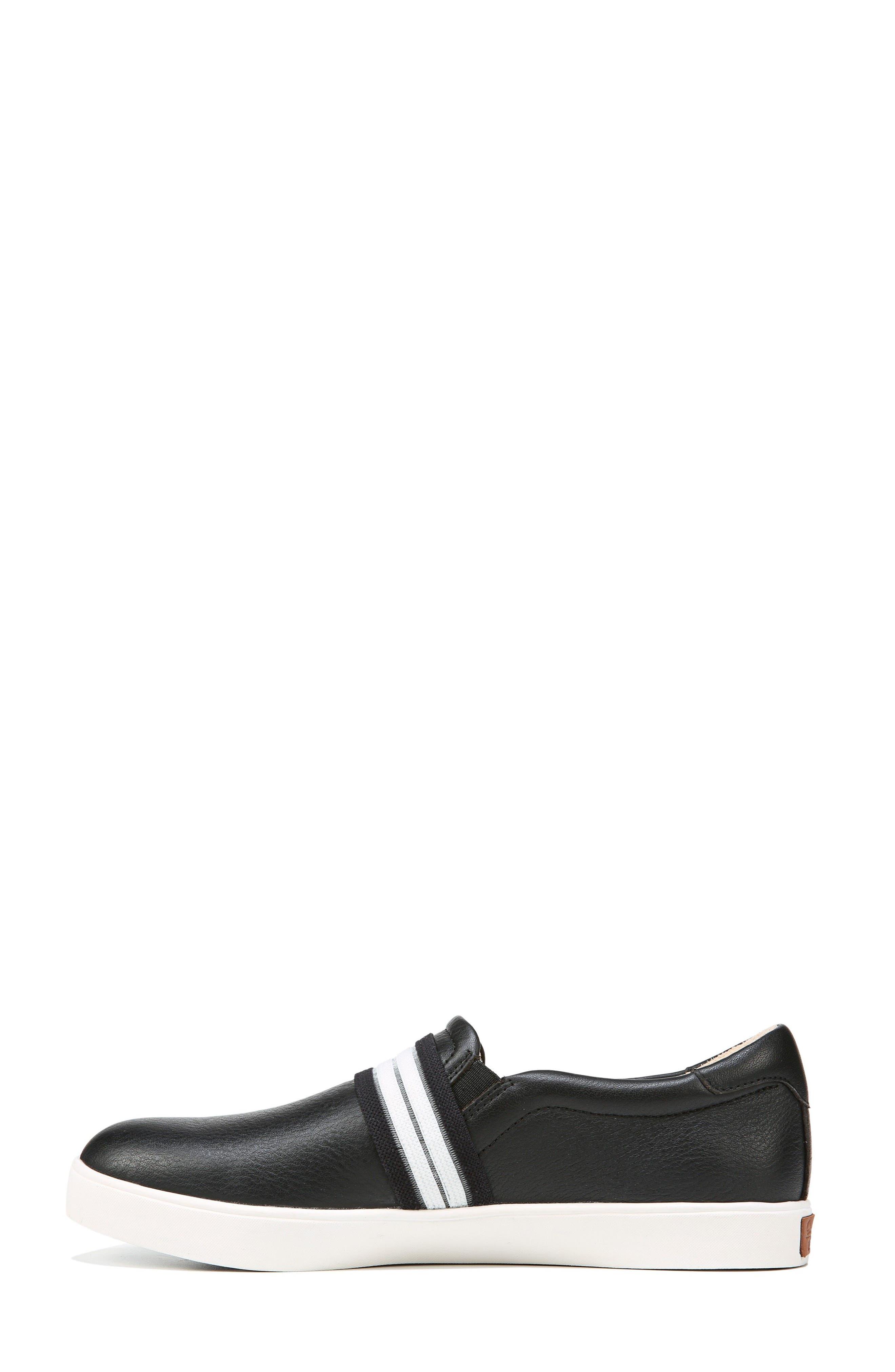 DR. SCHOLL'S, Scout Slip-On Sneaker, Alternate thumbnail 3, color, BLACK LEATHER 2