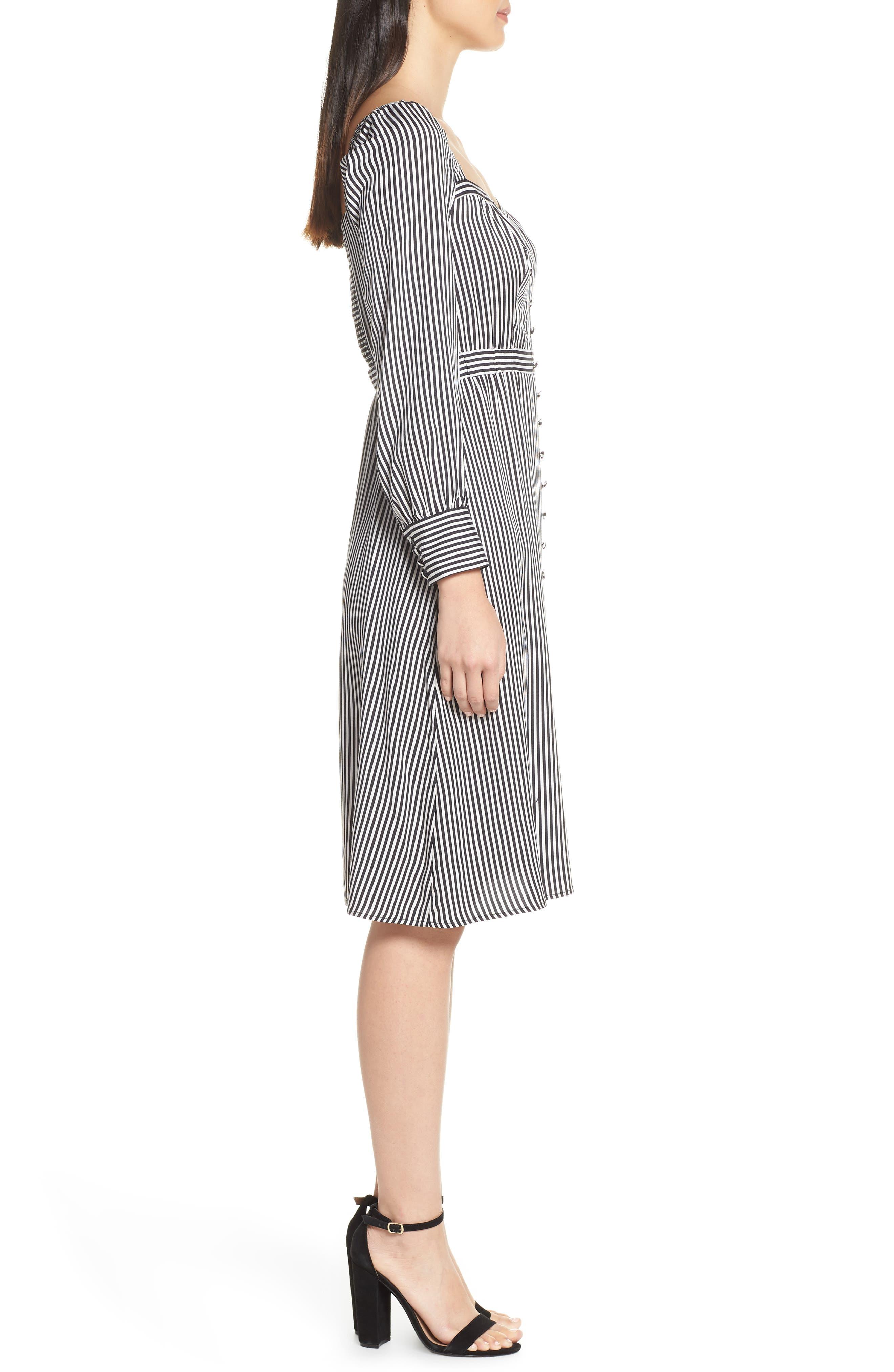 ALI & JAY, Take Me Downtown Stripe Dress, Alternate thumbnail 4, color, 001