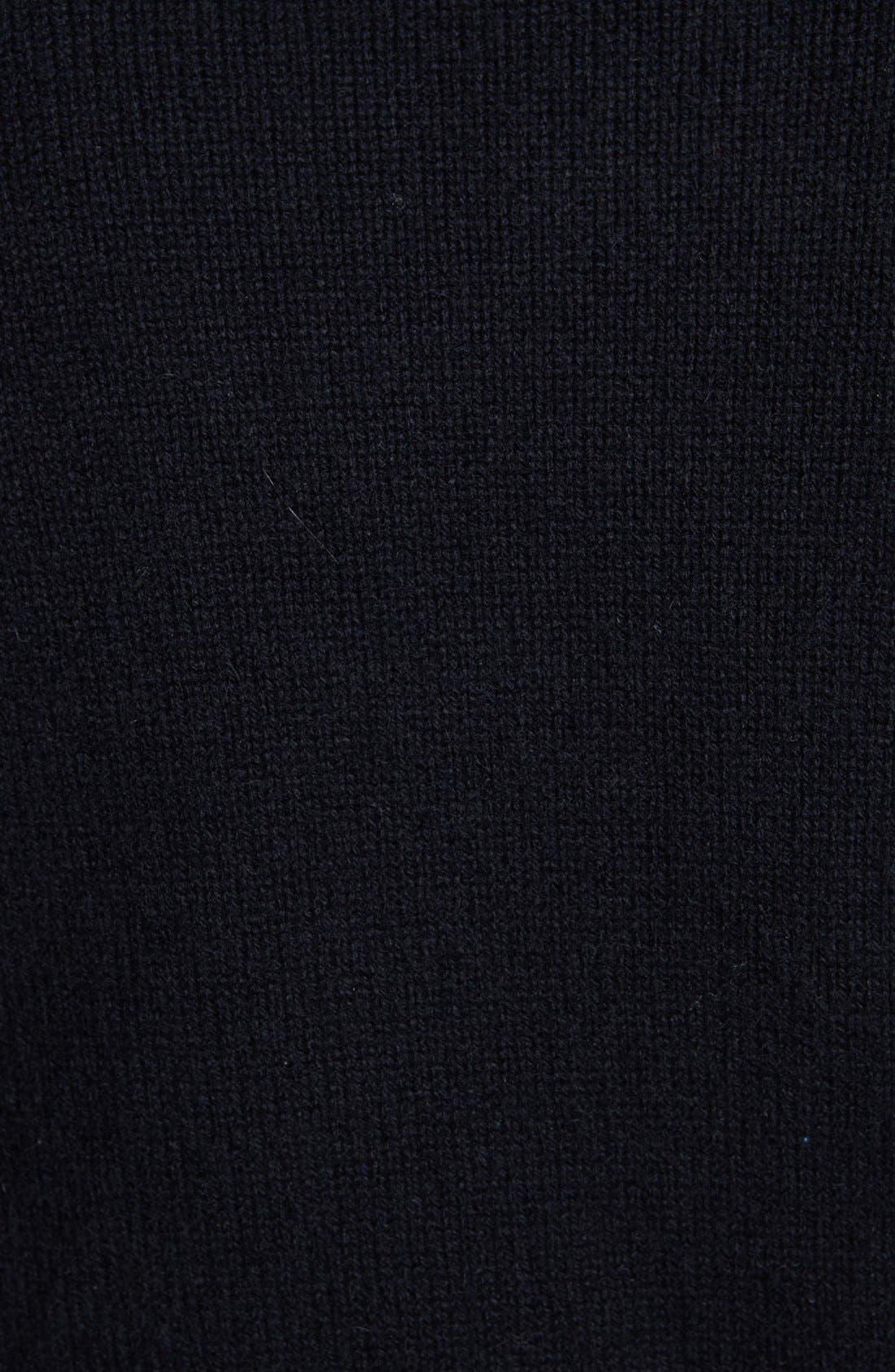 MICHAEL BASTIAN, Cashmere Crewneck Sweater, Alternate thumbnail 4, color, 001