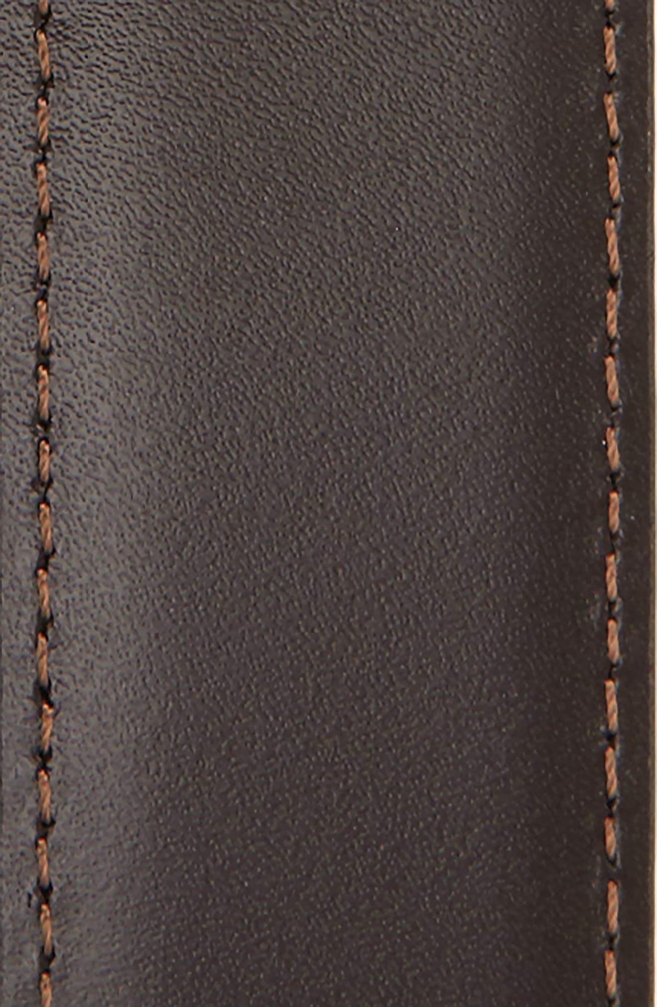 MONTBLANC, Reversible Leather Belt, Alternate thumbnail 3, color, BLACK/ BROWN