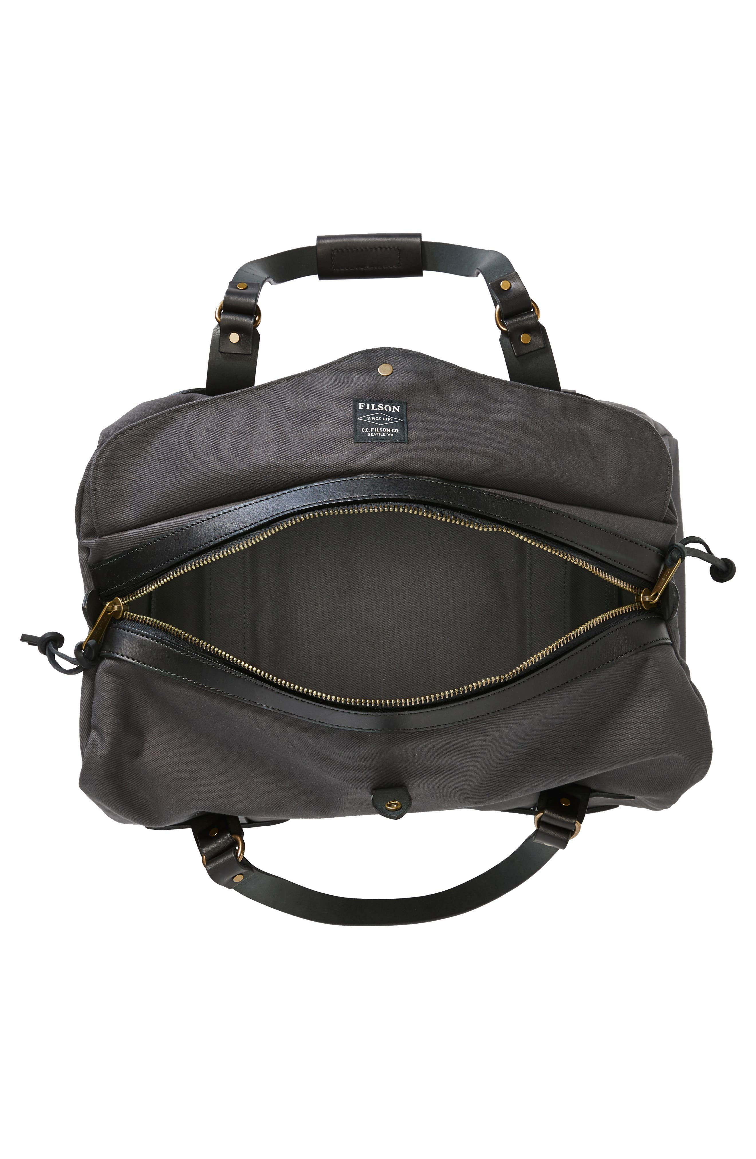 FILSON, Medium Duffle Bag, Alternate thumbnail 4, color, CINDER