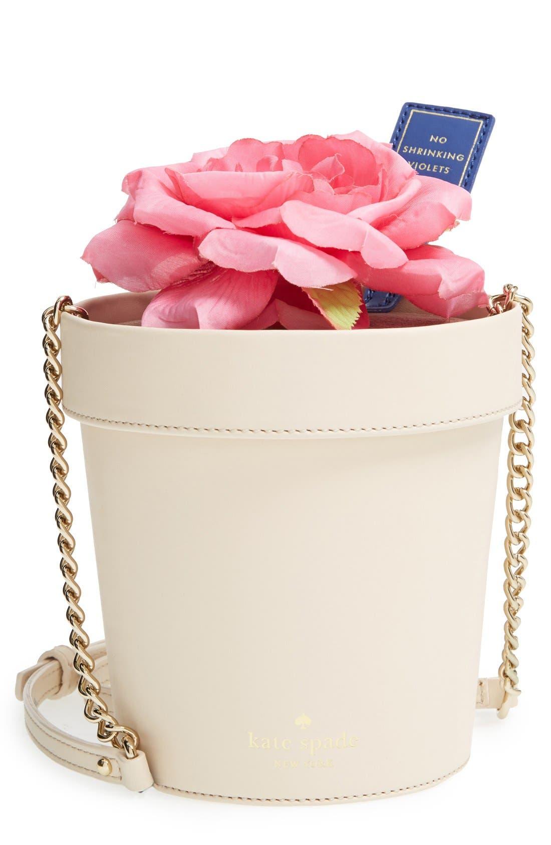 KATE SPADE NEW YORK 'spring forward - flowerpot' crossbody bag, Main, color, 100