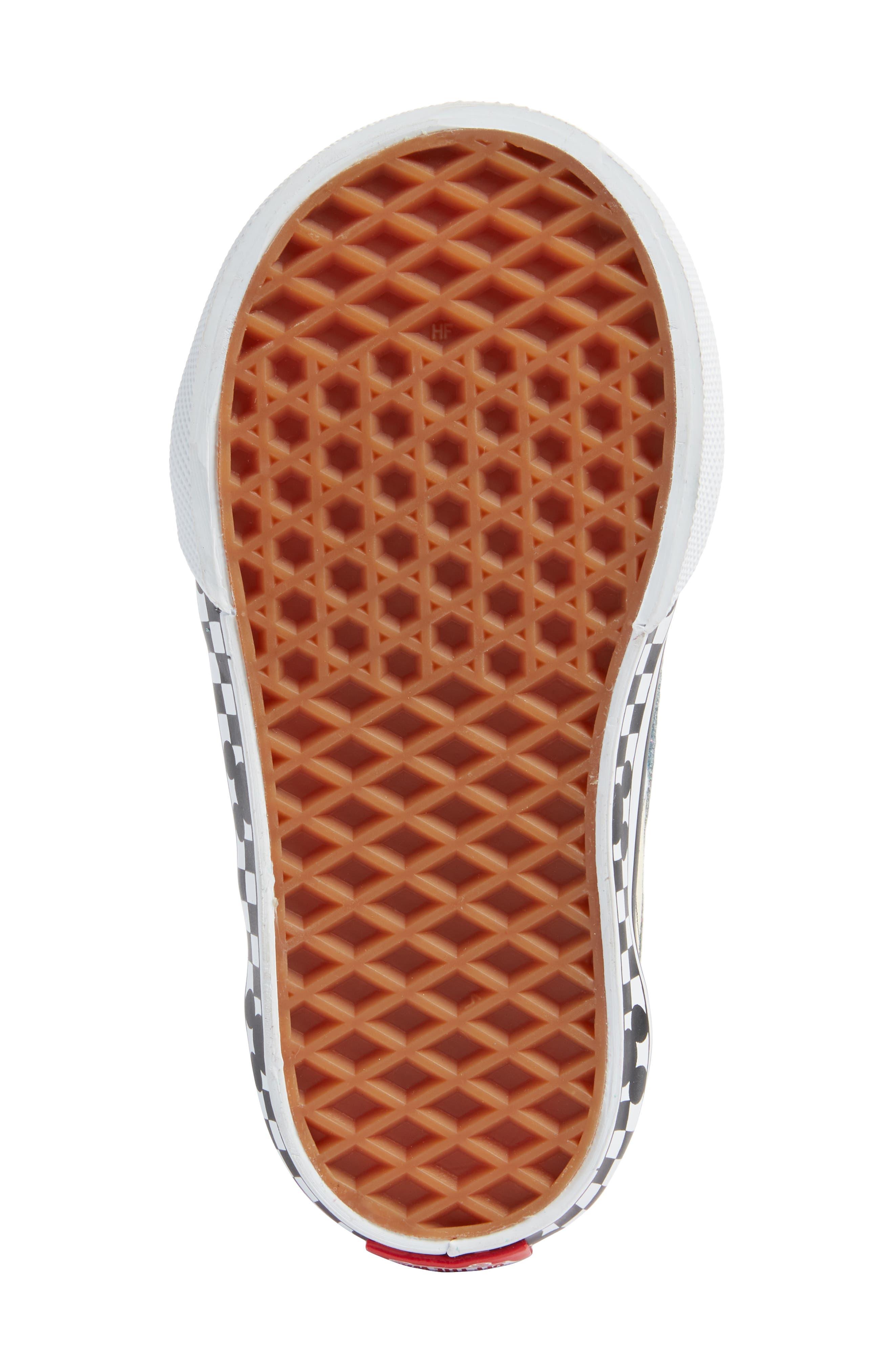 VANS, x Disney Old Skool V Sneaker, Alternate thumbnail 6, color, 650