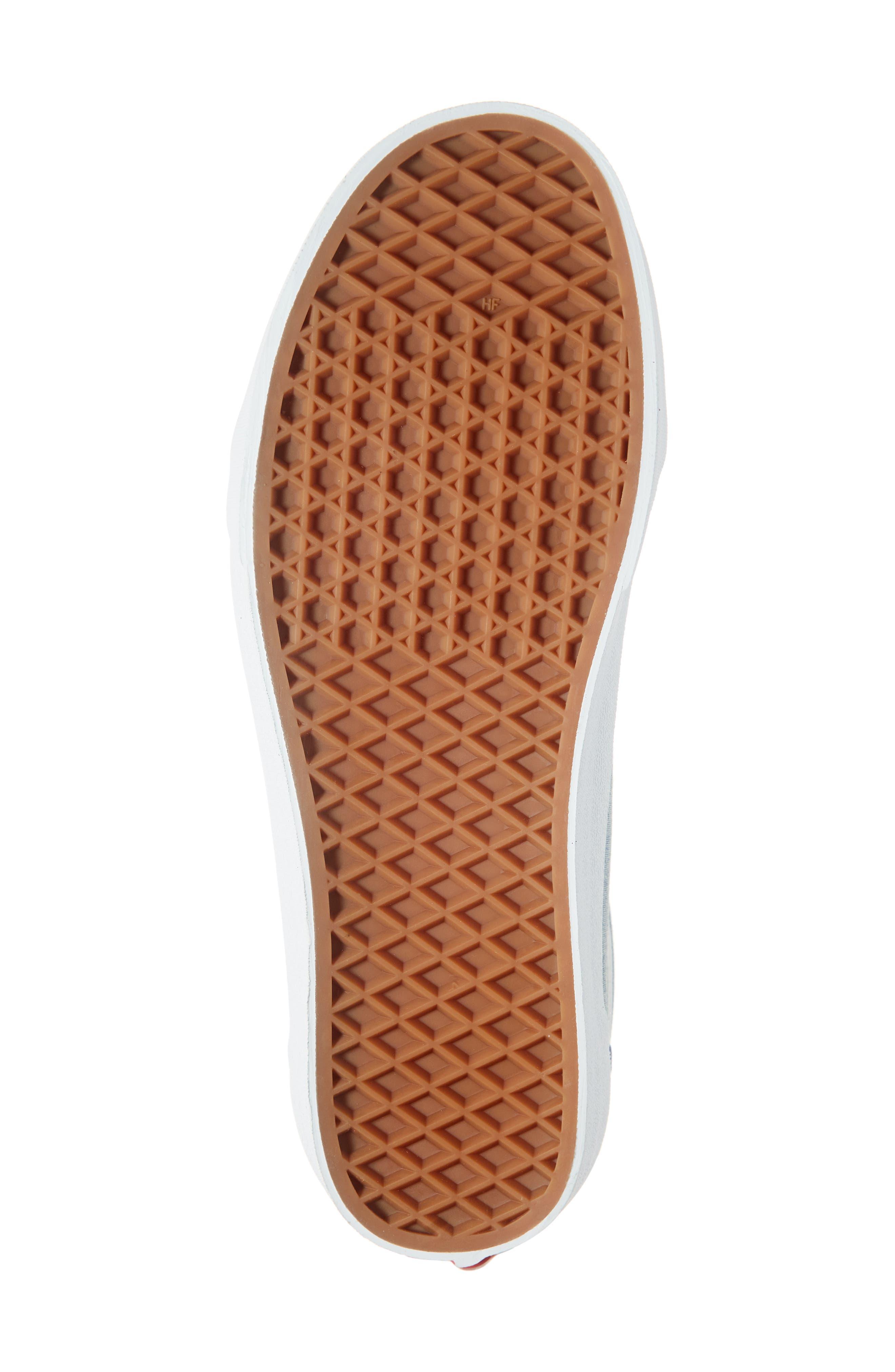 VANS, Old Skool Sneaker, Alternate thumbnail 6, color, CANVAS NAVY/ WHITE CHAMBRAY