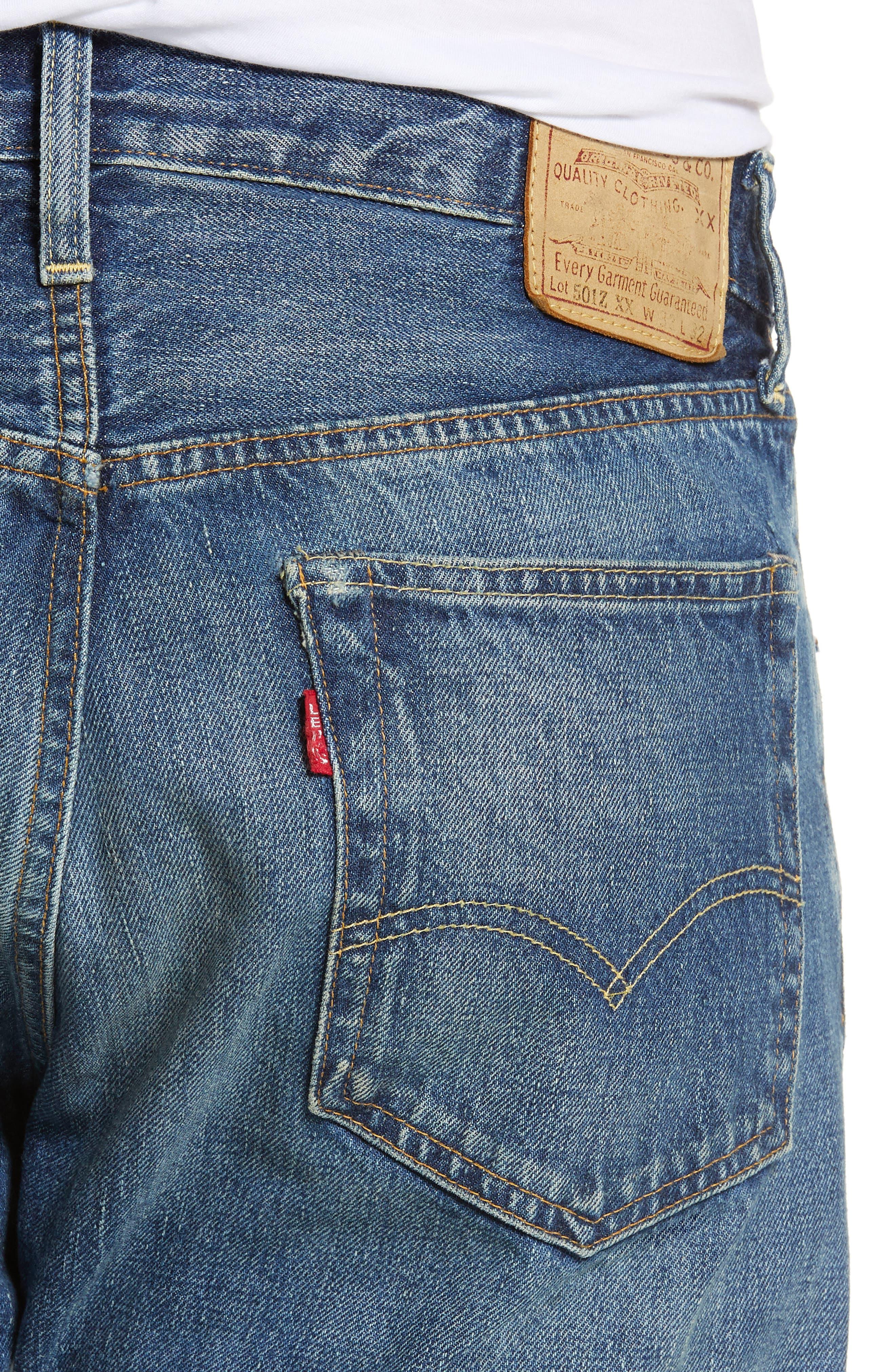 LEVI'S<SUP>®</SUP> VINTAGE CLOTHING, 1954 501<sup>®</sup> Straight Leg Jeans, Alternate thumbnail 5, color, PINWHEEL