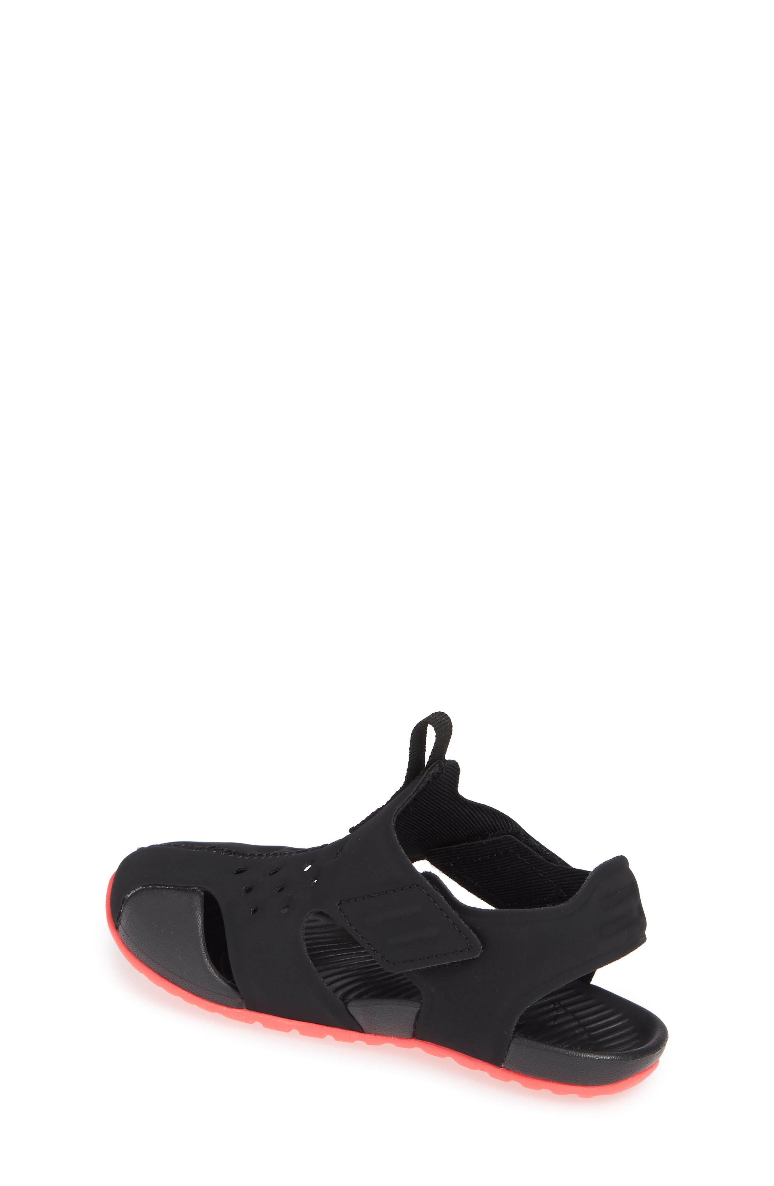 NIKE, Sunray Protect 2 Sandal, Alternate thumbnail 2, color, BLACK/ RACER PINK