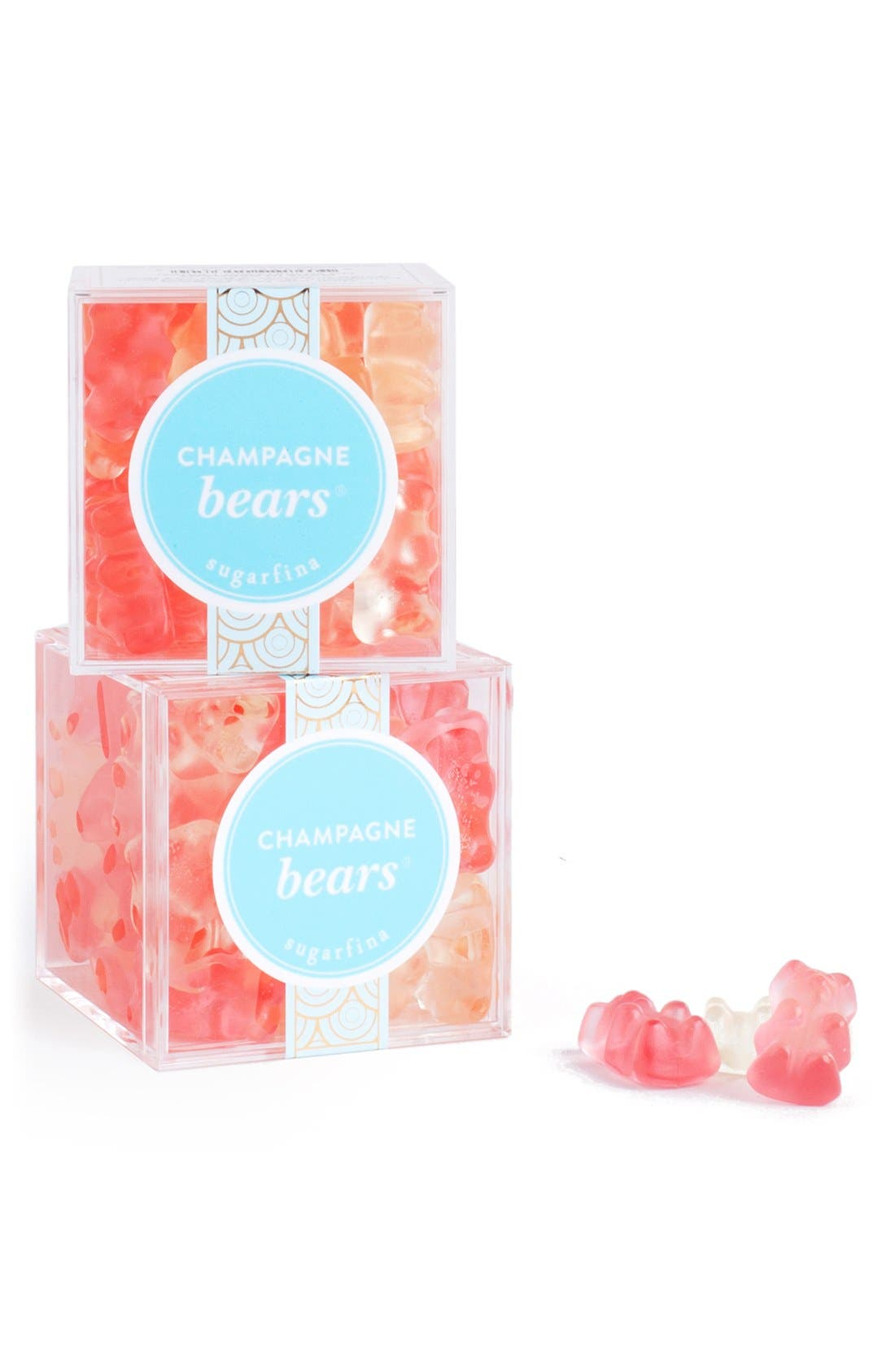 SUGARFINA, Set of 6 Champagne Bears<sup>®</sup> Candy Cubes, Alternate thumbnail 5, color, PINK