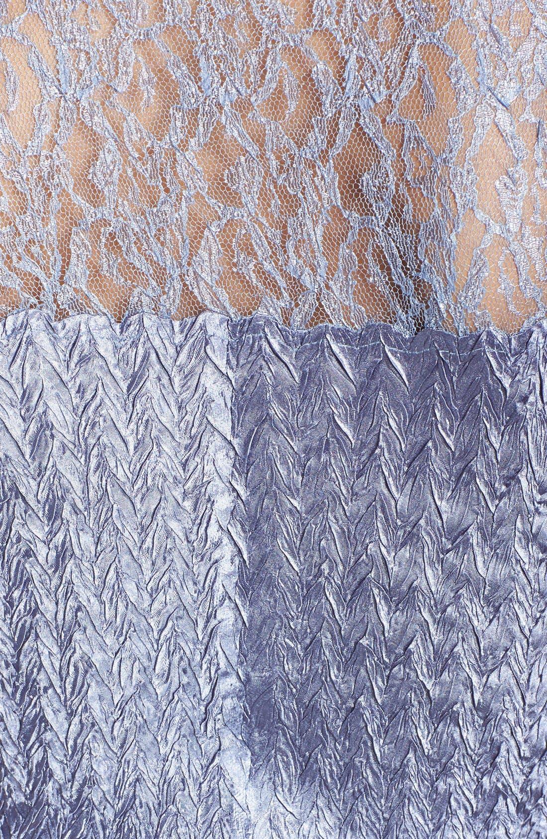 KOMAROV, Embellished Lace Trim Charmeuse Dress & Jacket, Alternate thumbnail 5, color, 500