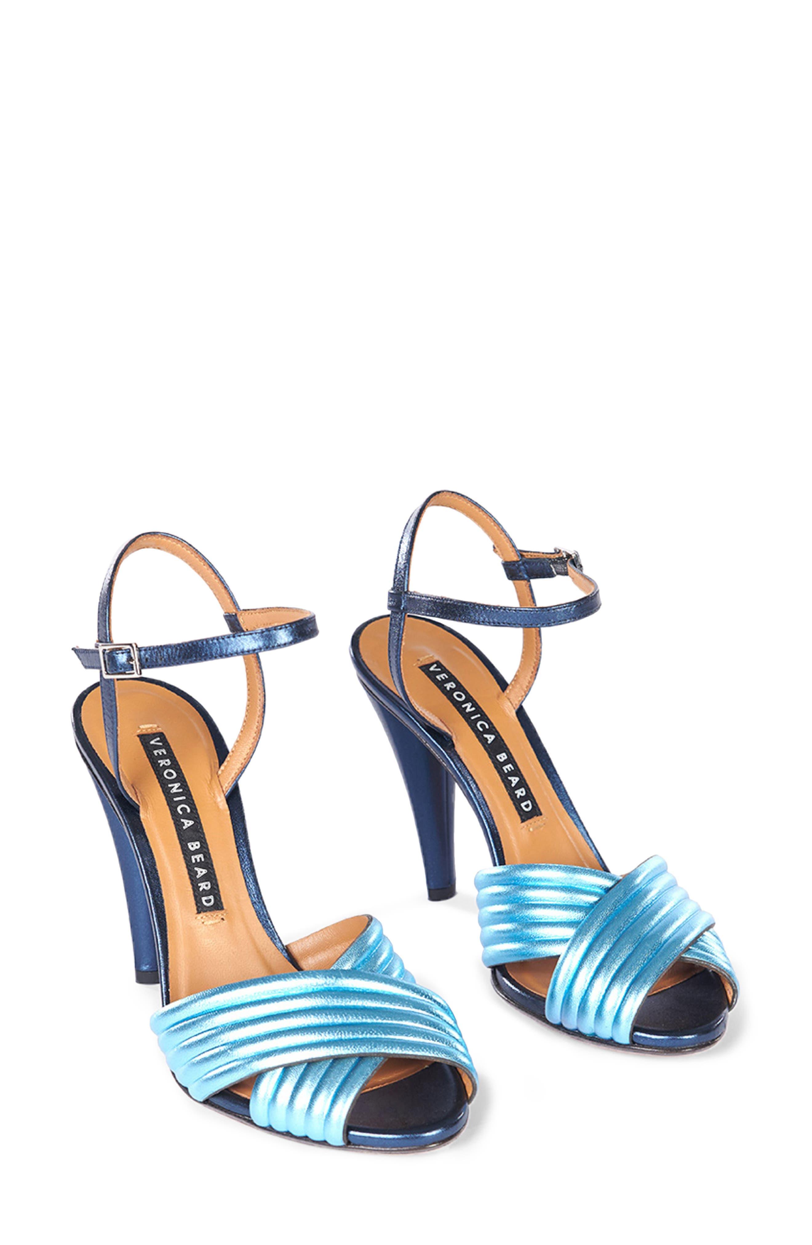 VERONICA BEARD, Olympia Quarter Strap Sandal, Main thumbnail 1, color, BLUE/ INDIGO