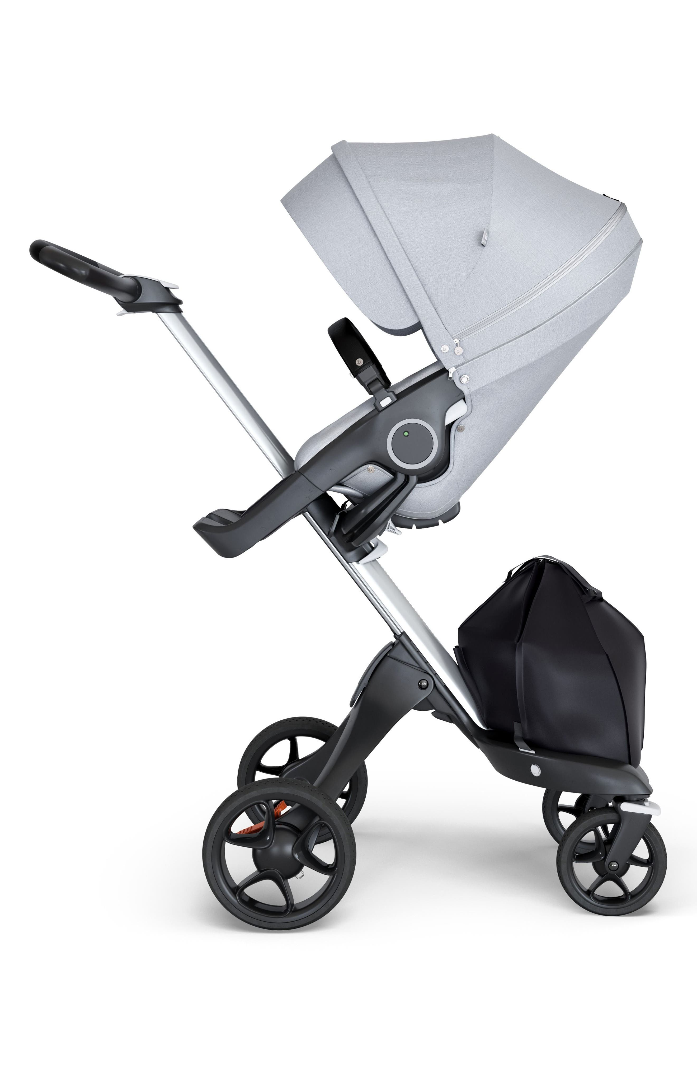STOKKE, Xplory<sup>®</sup> Silver Chassis Stroller, Main thumbnail 1, color, GREY MELANGE