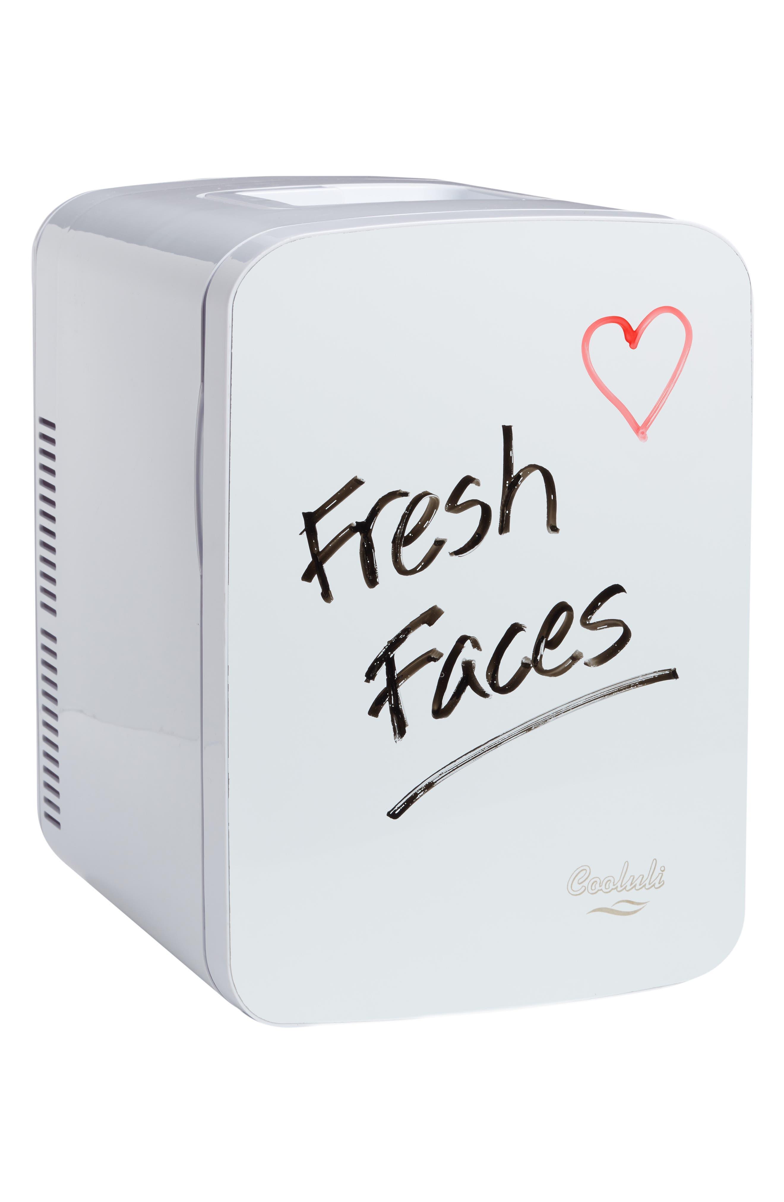 COOLULI, The Vibe Whiteboard 15L Thermoelectric Mini Beauty Fridge & Warmer, Main thumbnail 1, color, 100