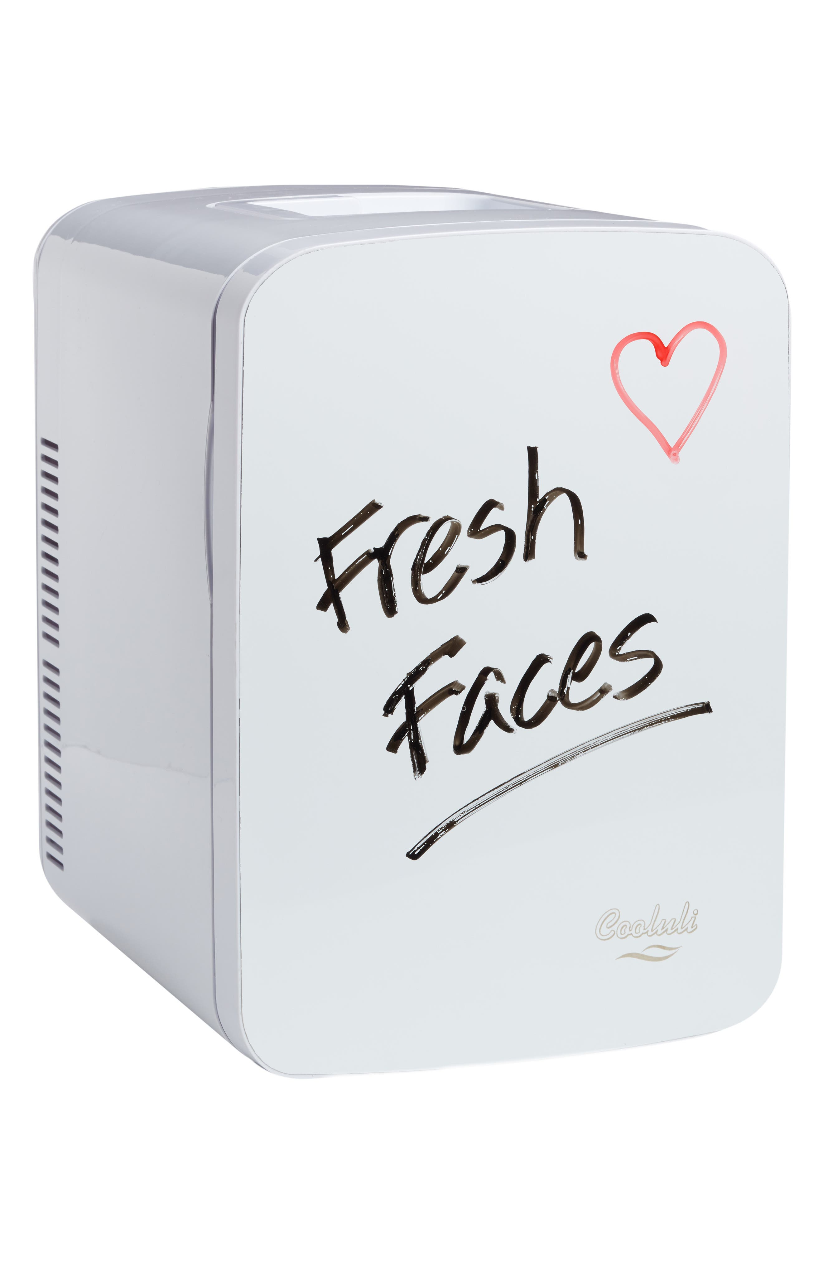 COOLULI The Vibe Whiteboard 15L Thermoelectric Mini Beauty Fridge & Warmer, Main, color, 100