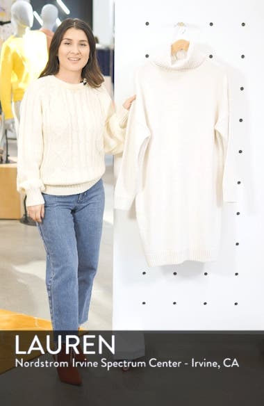 Turtleneck Sweater Dress, sales video thumbnail