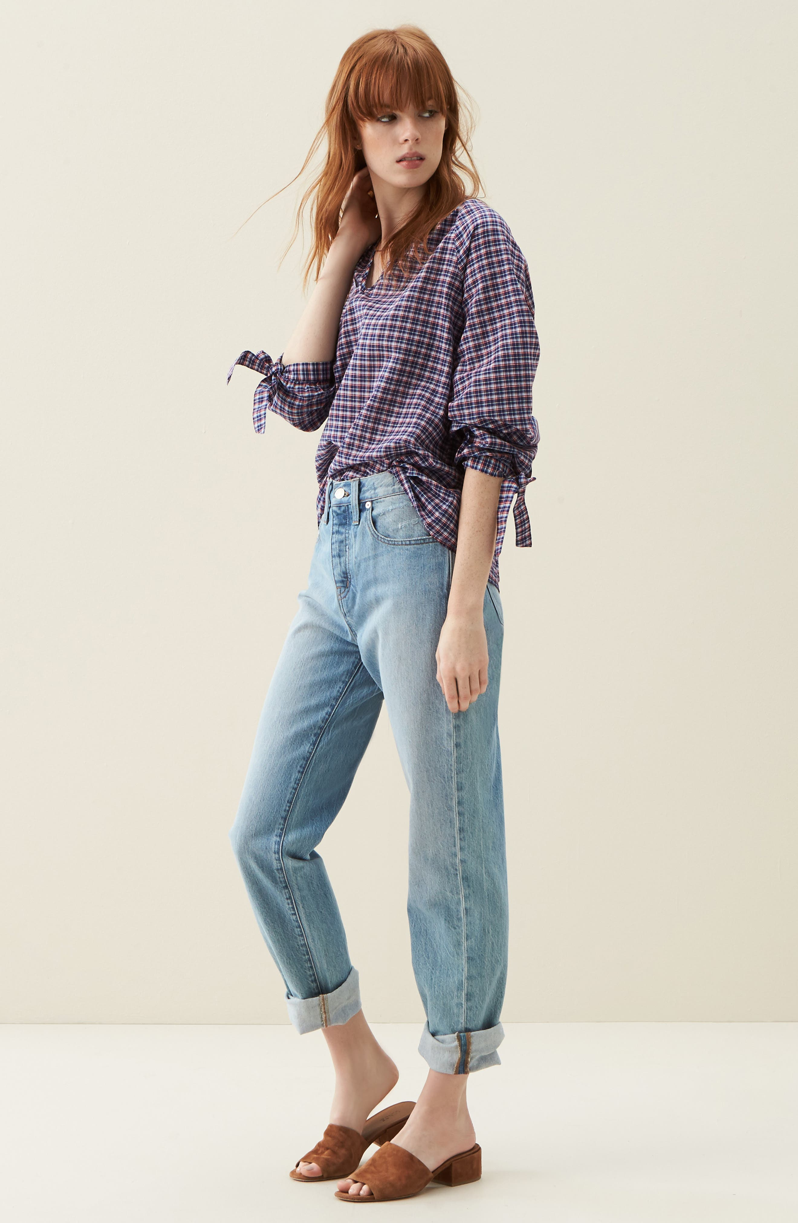 MADEWELL, 'Perfect Summer' High Rise Ankle Jeans, Main thumbnail 1, color, FITZGERALD WASH