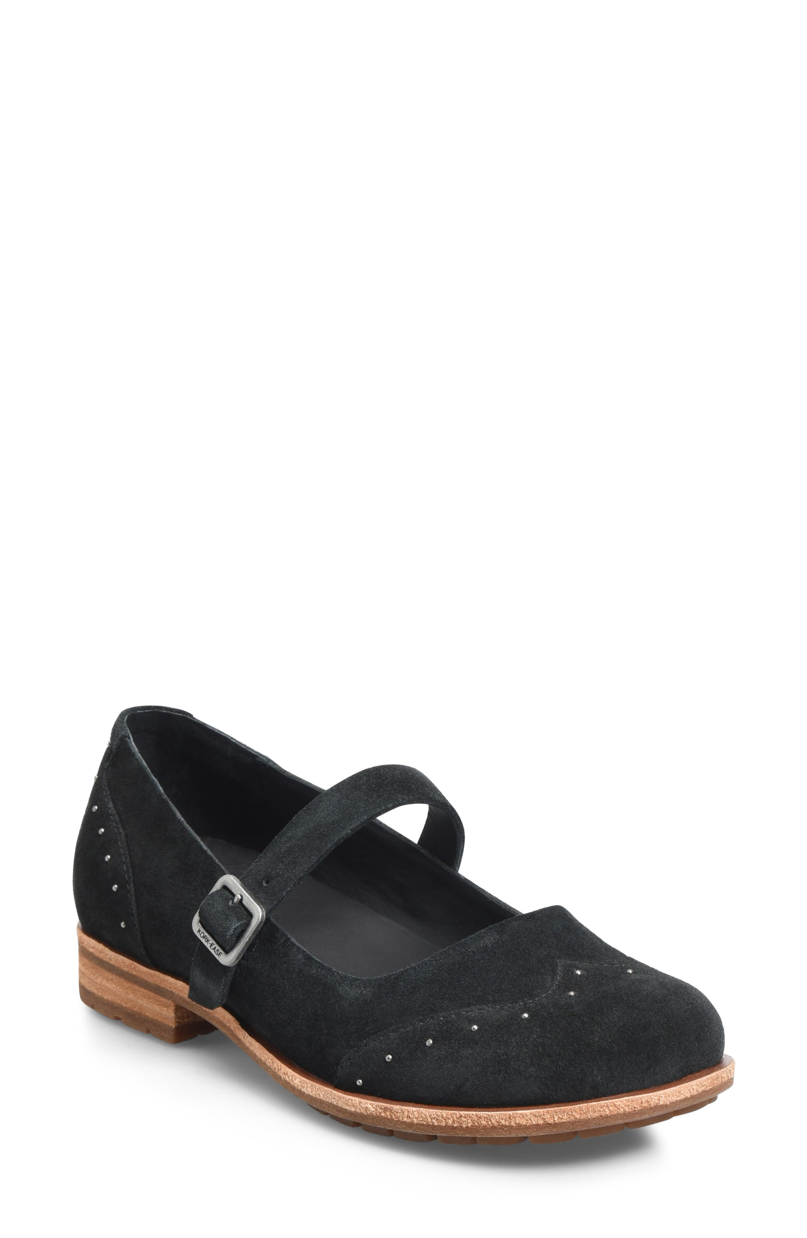 Kork-Ease Brystal Mary Jane Flat- Black