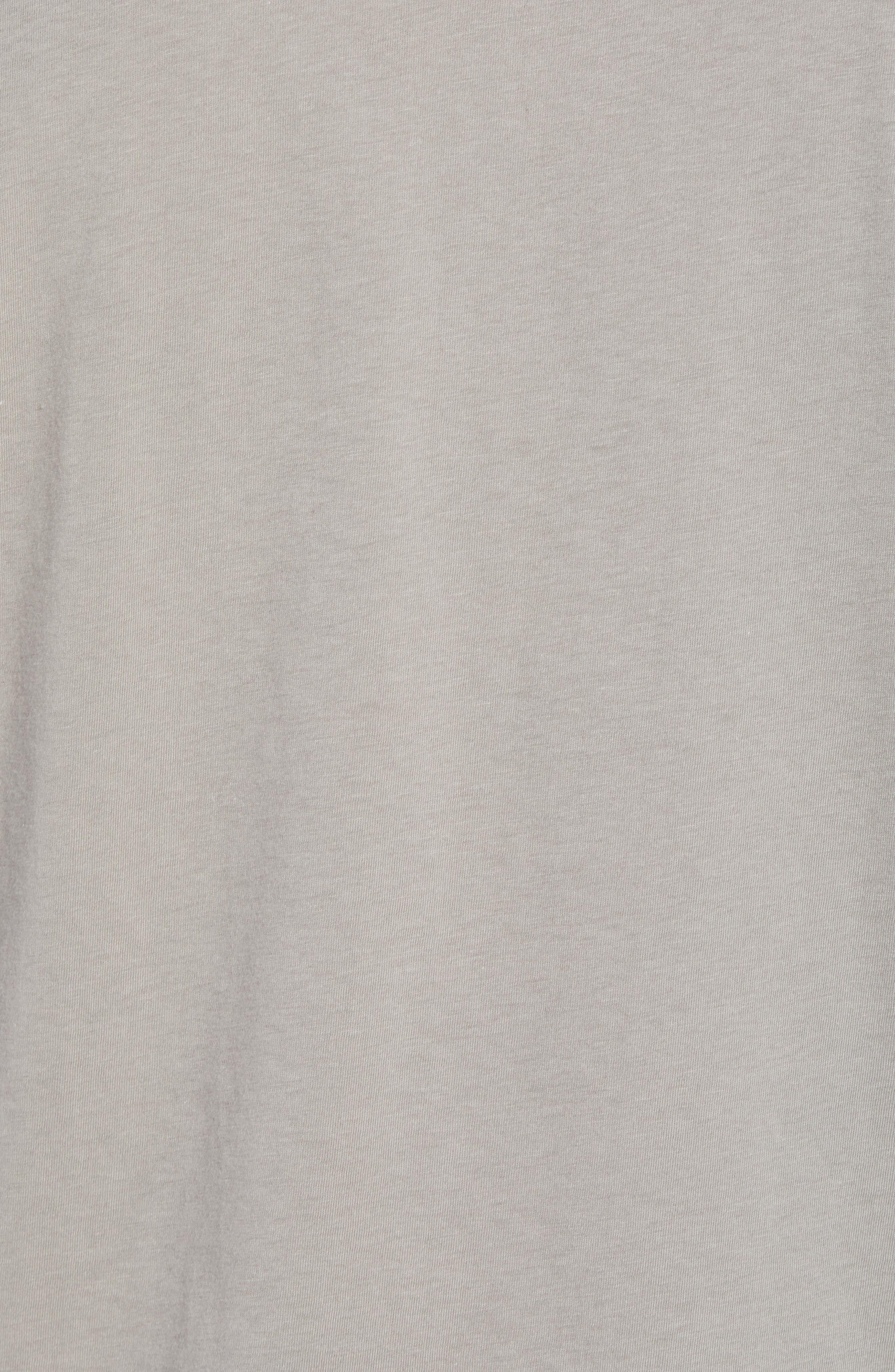 PATAGONIA, Fitz Roy Scope Crewneck T-Shirt, Alternate thumbnail 5, color, FEATHER GREY