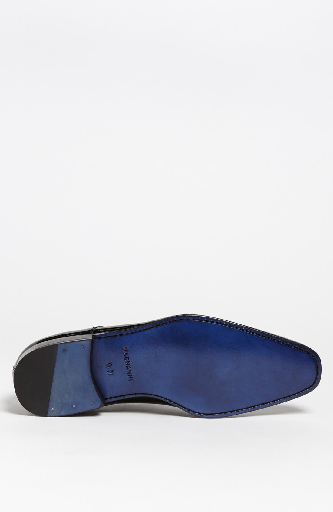 MAGNANNI, 'Dante' Plain Toe Derby, Alternate thumbnail 6, color, BLACK
