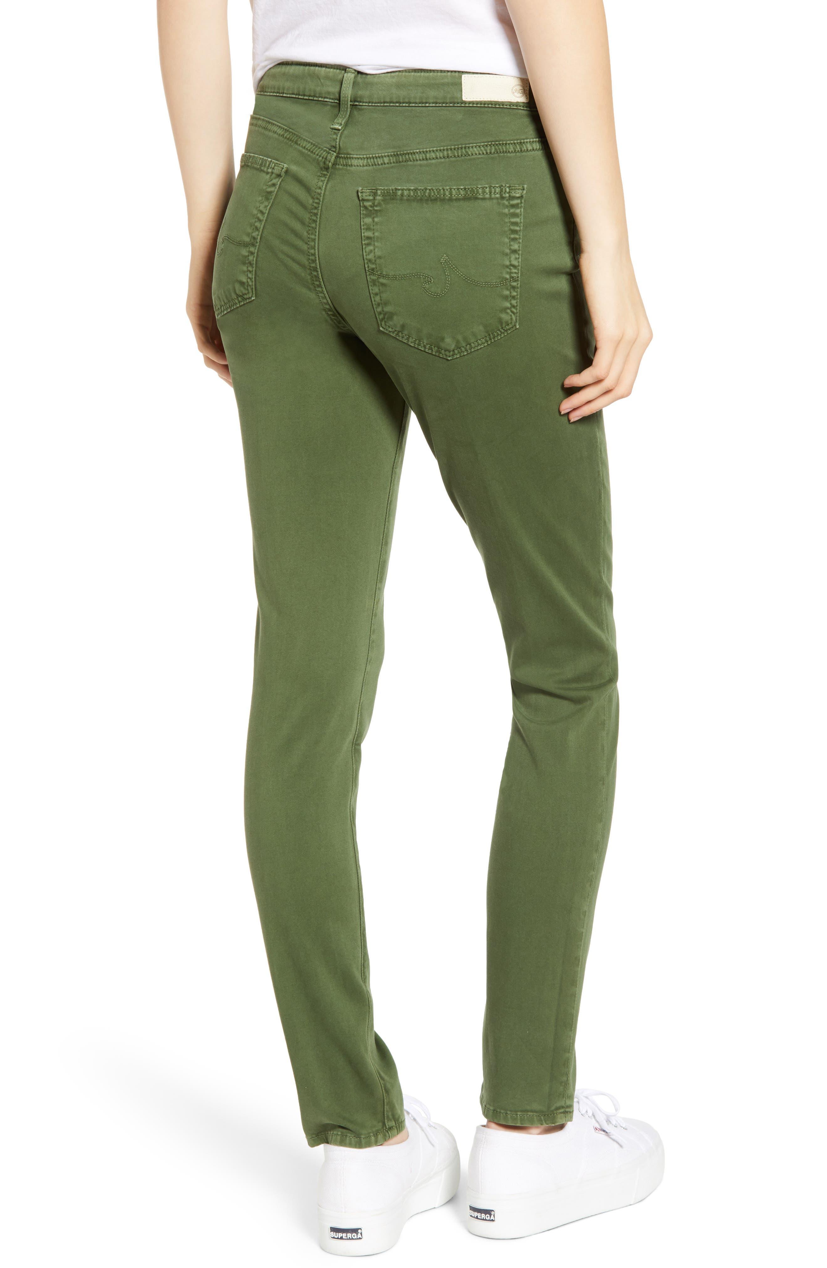 AG, 'The Prima' Cigarette Leg Skinny Jeans, Alternate thumbnail 2, color, SULFUR NEW SPRUCE
