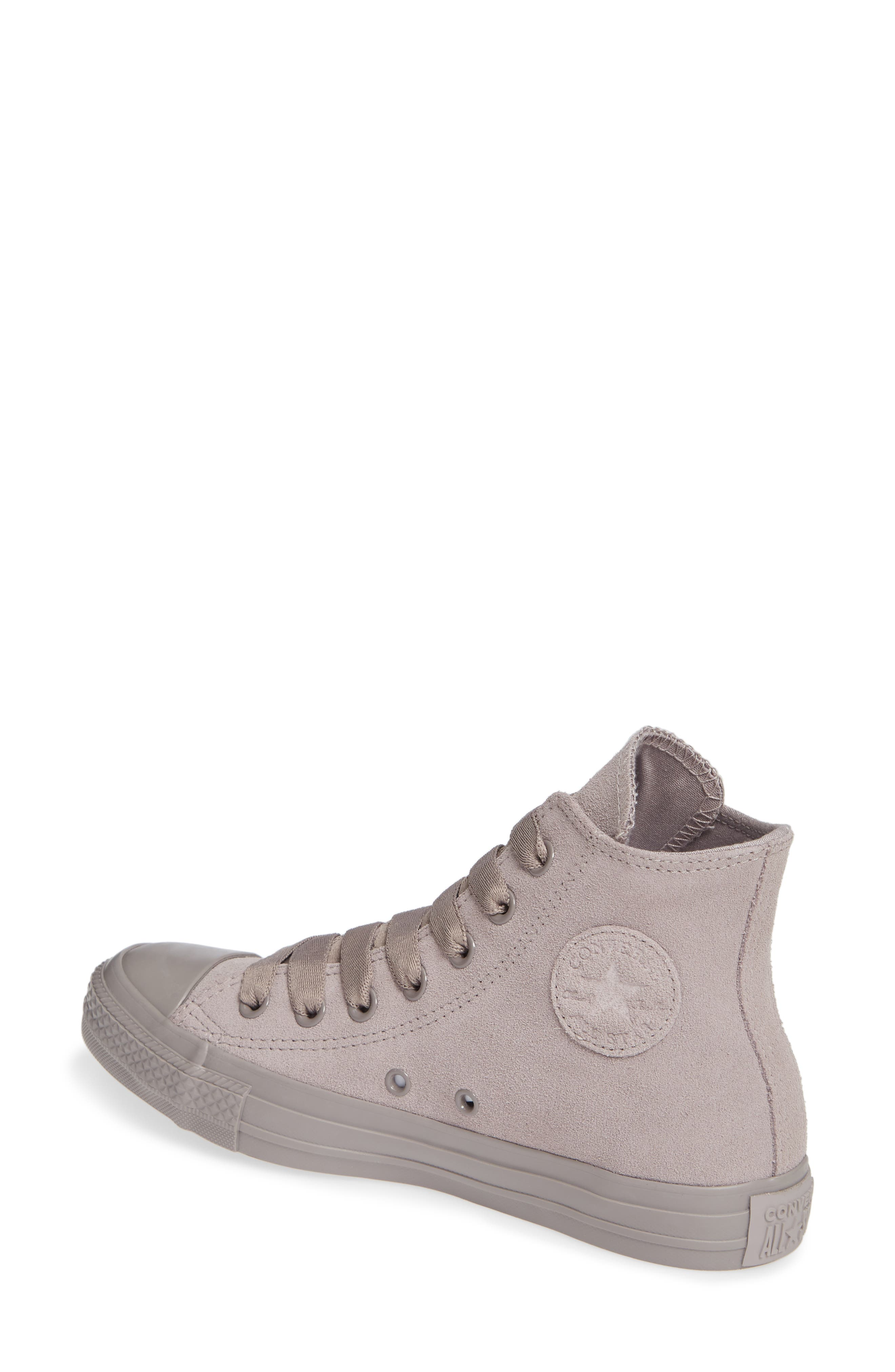 CONVERSE, Chuck Taylor<sup>®</sup> All Star<sup>®</sup> Hi Sneaker, Alternate thumbnail 2, color, MERCURY GREY SUEDE