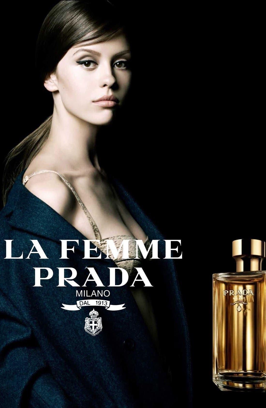PRADA, La Femme Prada Eau de Parfum, Alternate thumbnail 8, color, NO COLOR