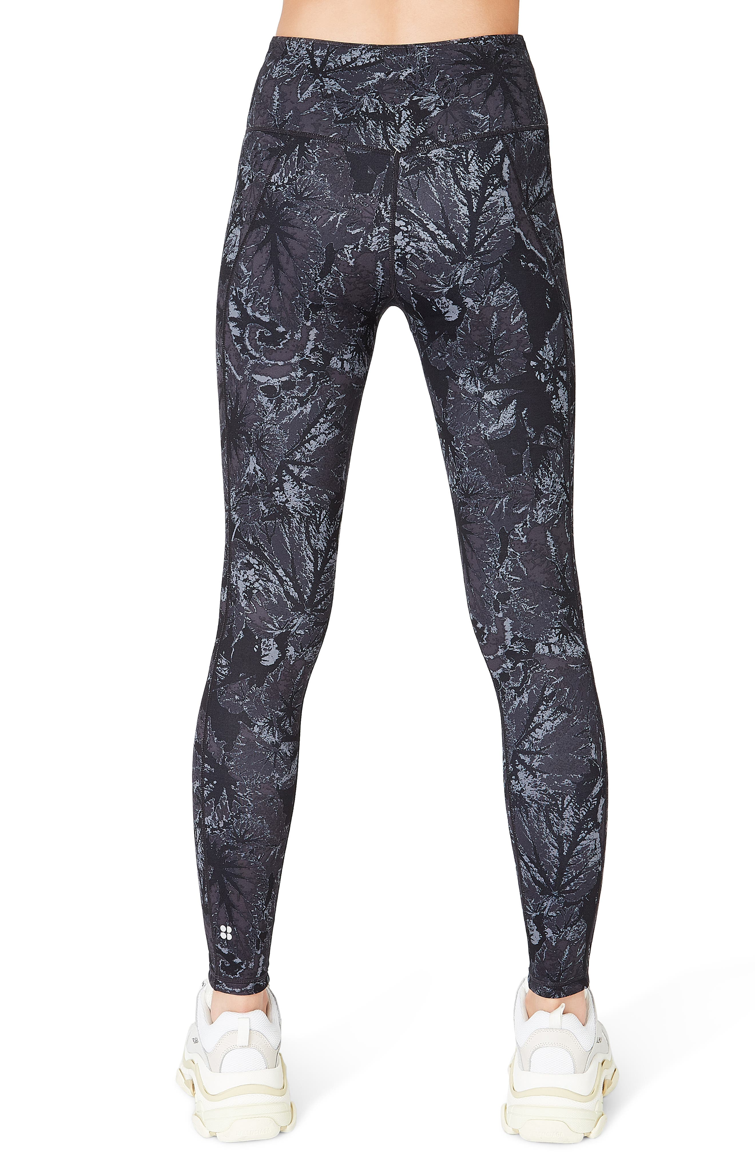 SWEATY BETTY, Reversible Yoga Leggings, Alternate thumbnail 4, color, TONAL BEGONIA PRINT