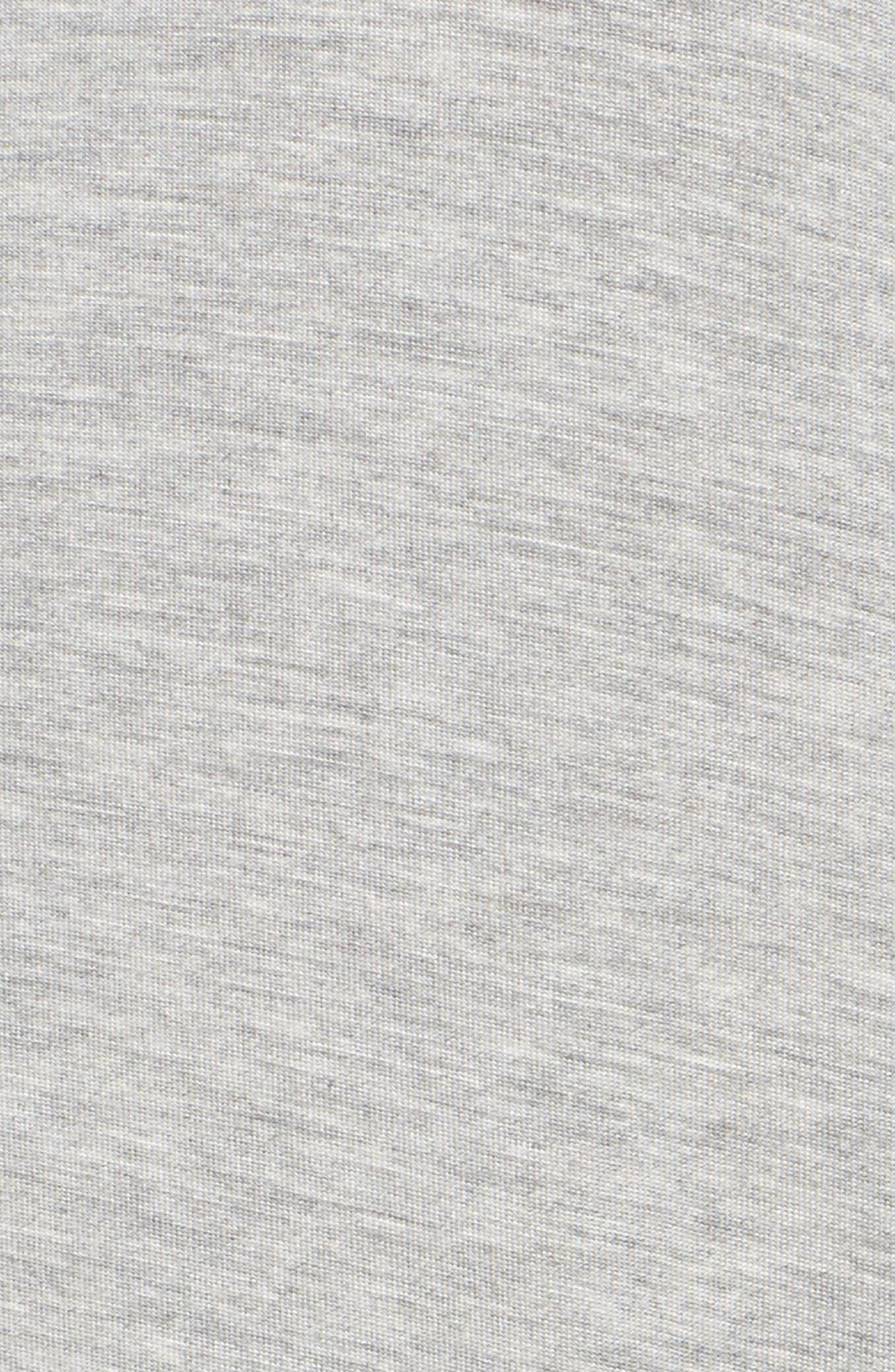 LAUREN RALPH LAUREN, Ballet Jersey Sleep Shirt, Alternate thumbnail 5, color, HEATHER GREY FEEDER STRIPE