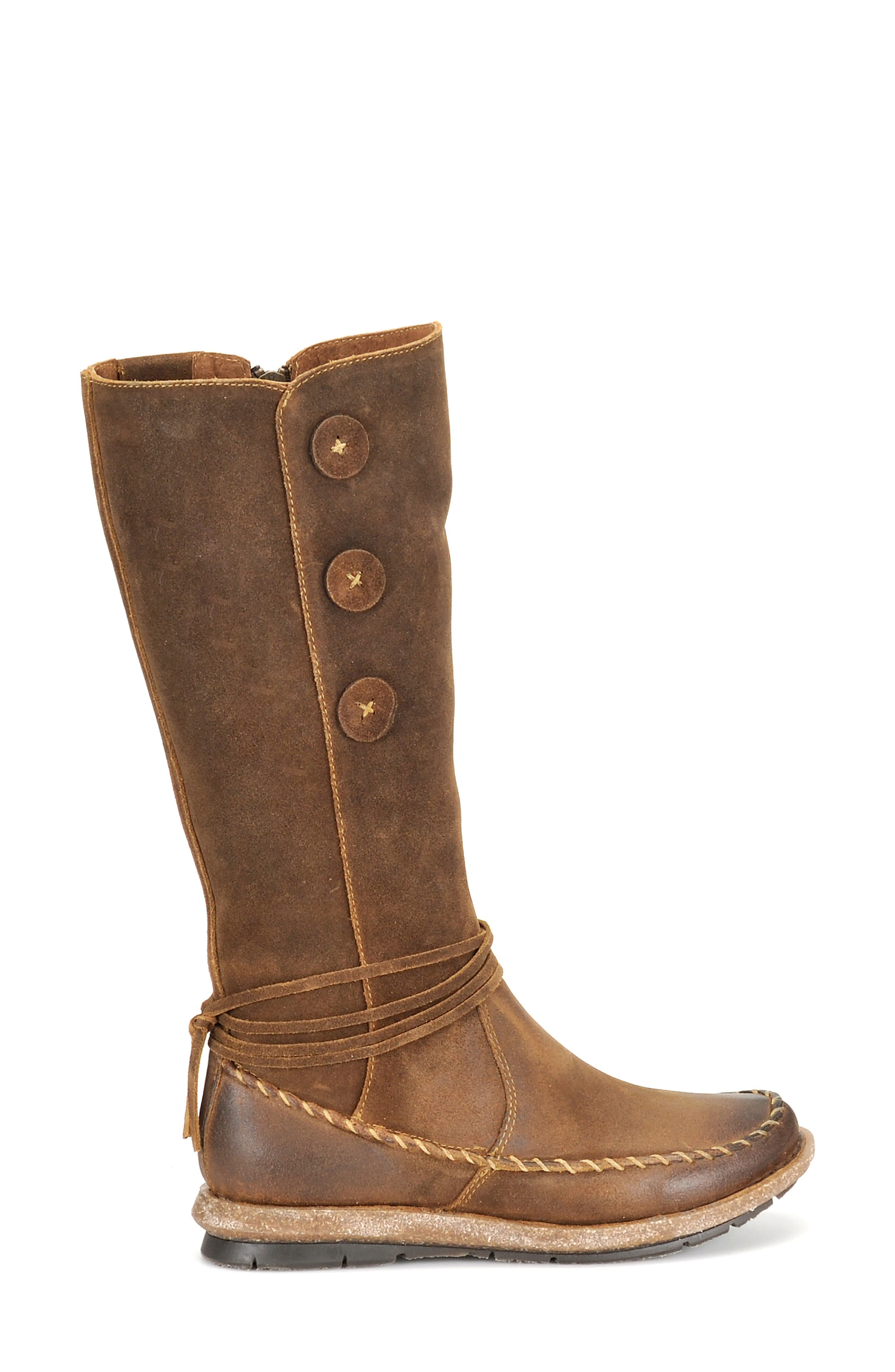 BØRN, Torrey Boot, Alternate thumbnail 3, color, RUST DISTRESSED LEATHER