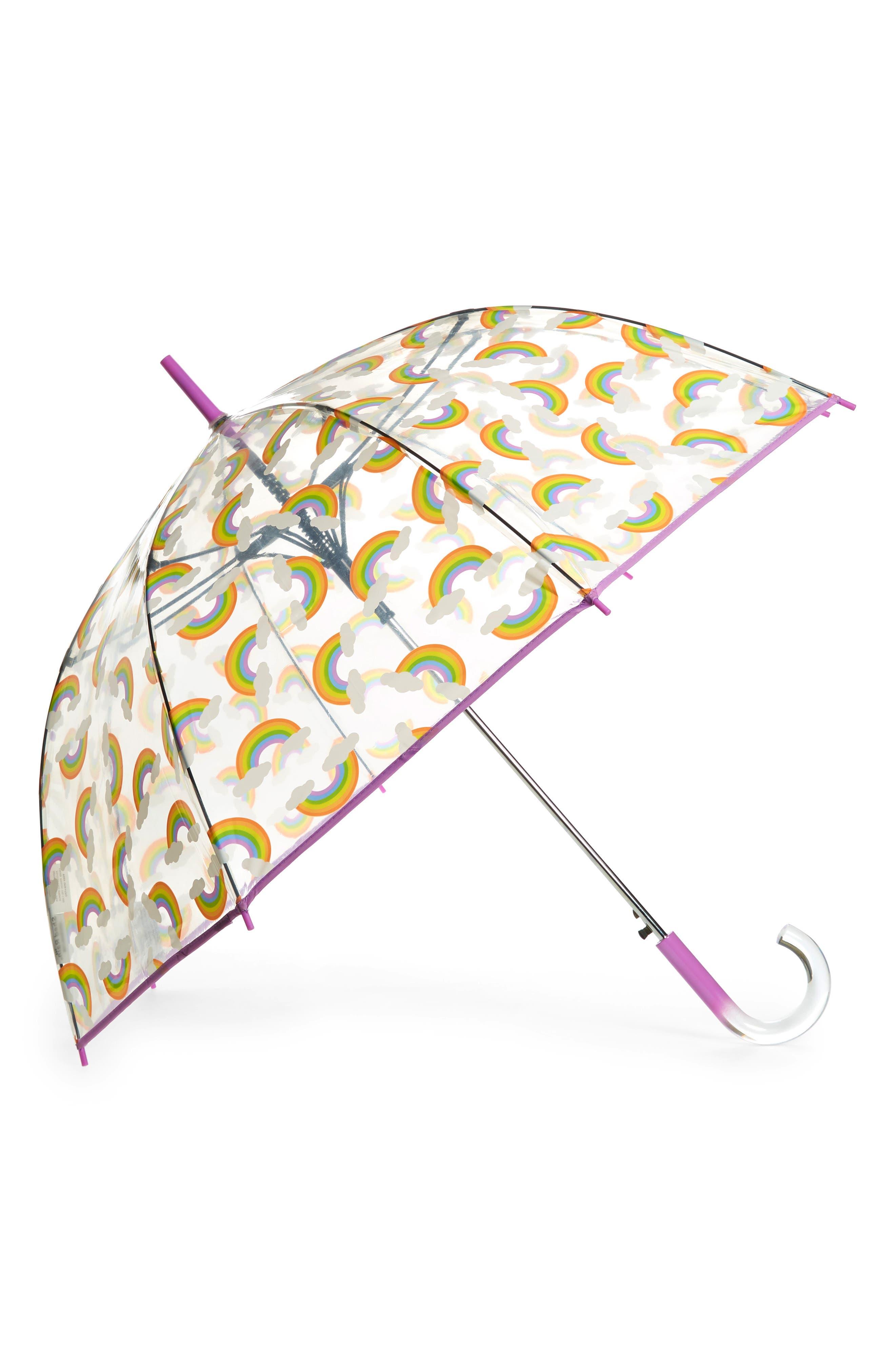 SHEDRAIN, 'The Bubble' Auto Open Stick Umbrella, Main thumbnail 1, color, DREAM CLEAR